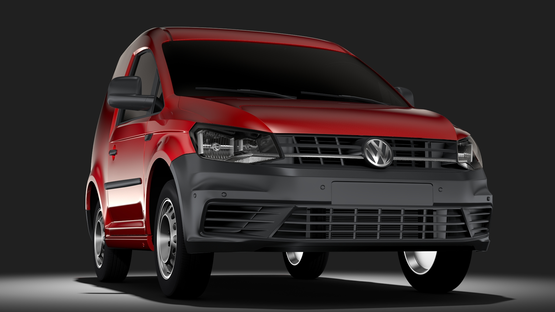 volkswagen caddy one man van 2017 3d model max fbx c4d lwo ma mb hrc xsi obj 275440