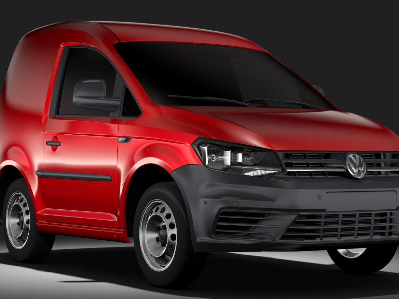 Volkswagen Caddy One Man Van 2017 3d model 0