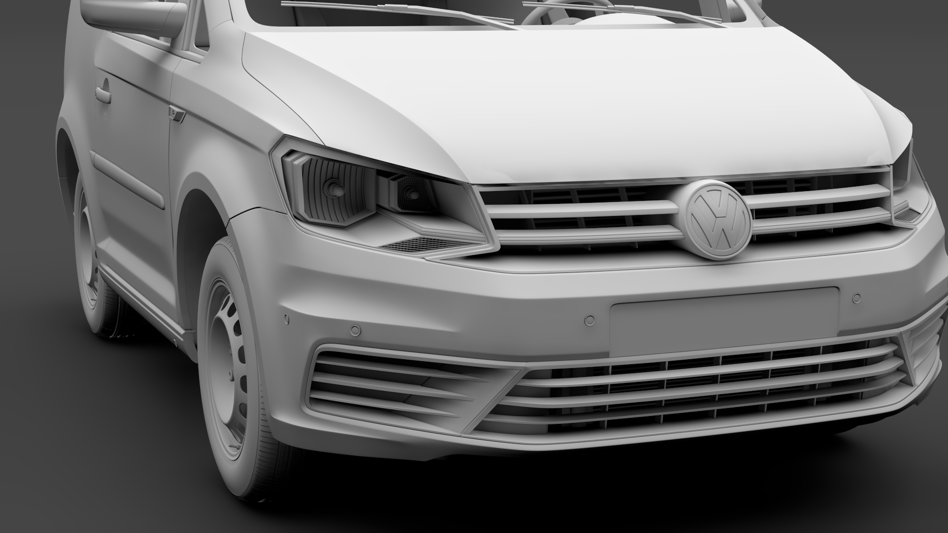 volkswagen caddy one man van 2017 3d model max fbx c4d lwo ma mb hrc xsi obj 275452