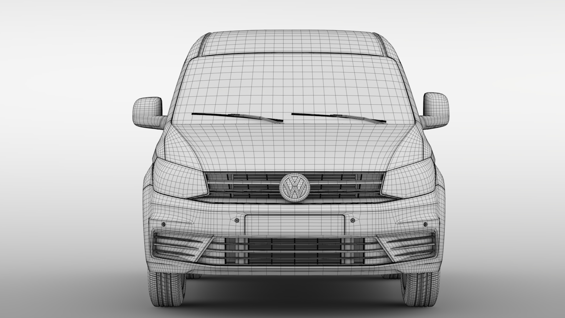 volkswagen caddy one man van 2017 3d model max fbx c4d lwo ma mb hrc xsi obj 275456