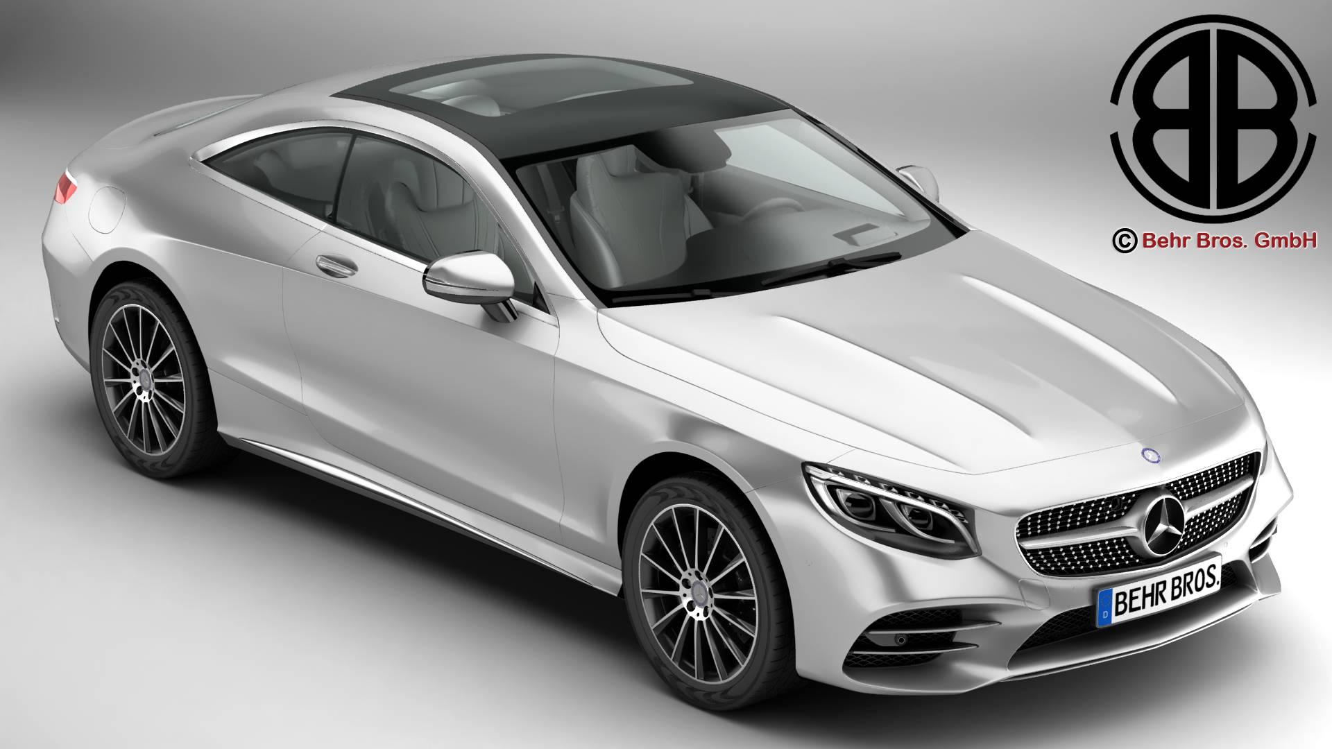 Mercedes S Class Coupe AMG Line 2018 3d model 3ds max fbx c4d lwo lws lw ma mb obj 275658