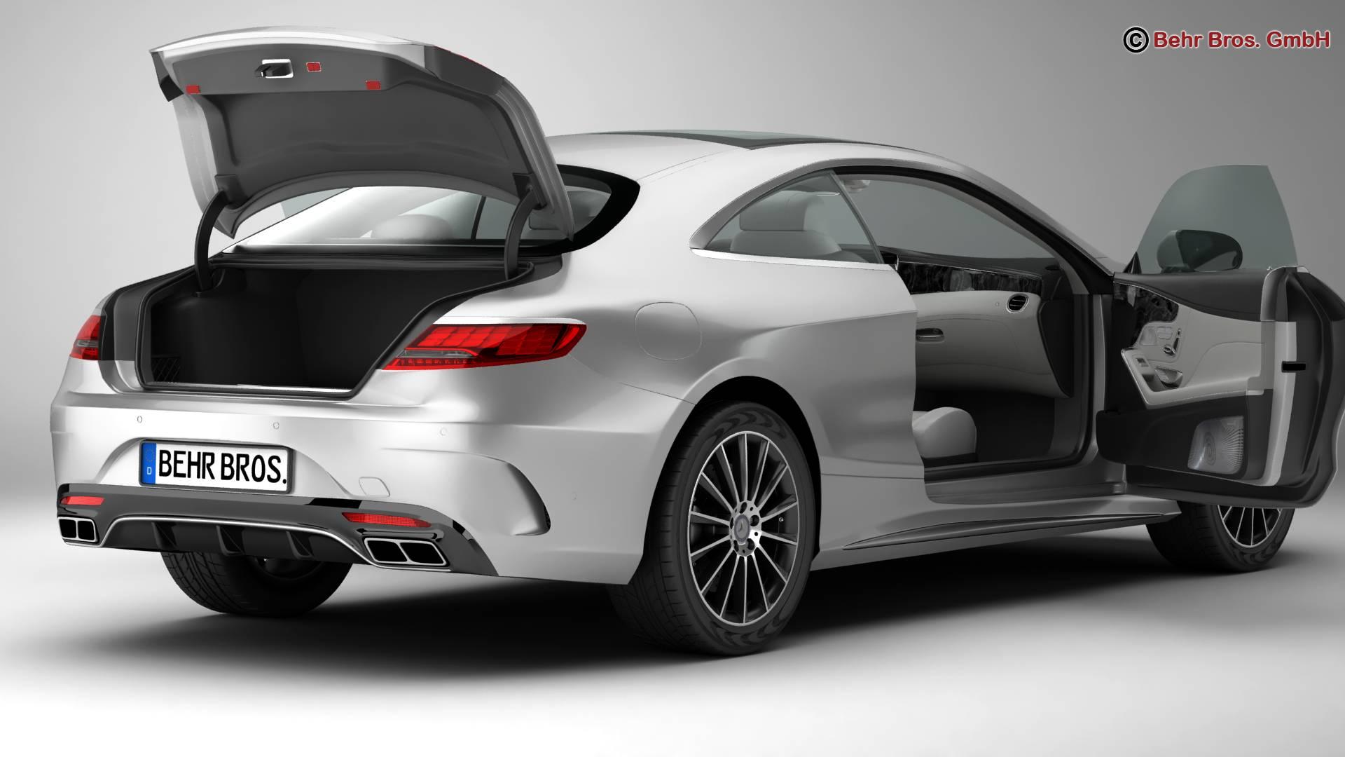 mercedes s class coupe amg line 2018 3d model 3ds max fbx c4d lwo ma mb obj 275662
