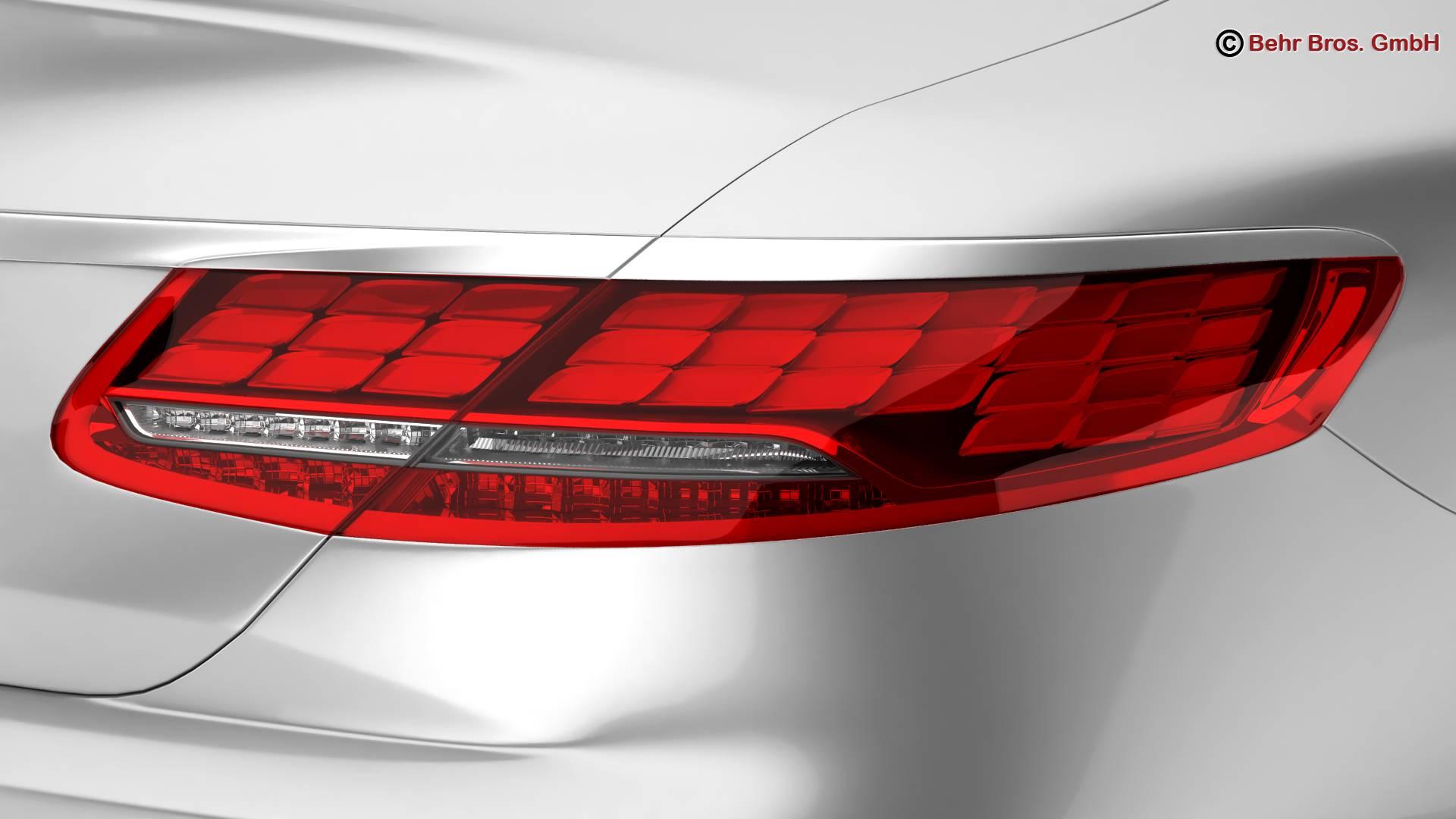 mercedes s class coupe amg line 2018 3d model 3ds max fbx c4d lwo ma mb obj 275668