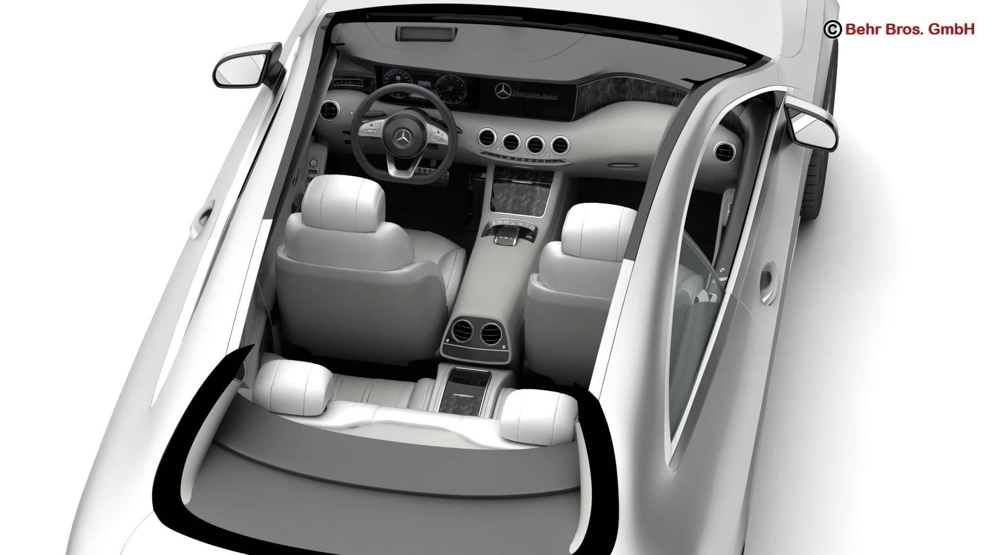 mercedes s class coupe amg line 2018 3d model 3ds max fbx c4d lwo ma mb obj 275670