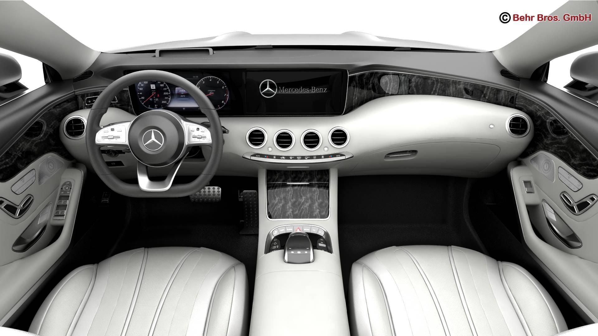 mercedes s class coupe amg line 2018 3d model 3ds max fbx c4d lwo ma mb obj 275671