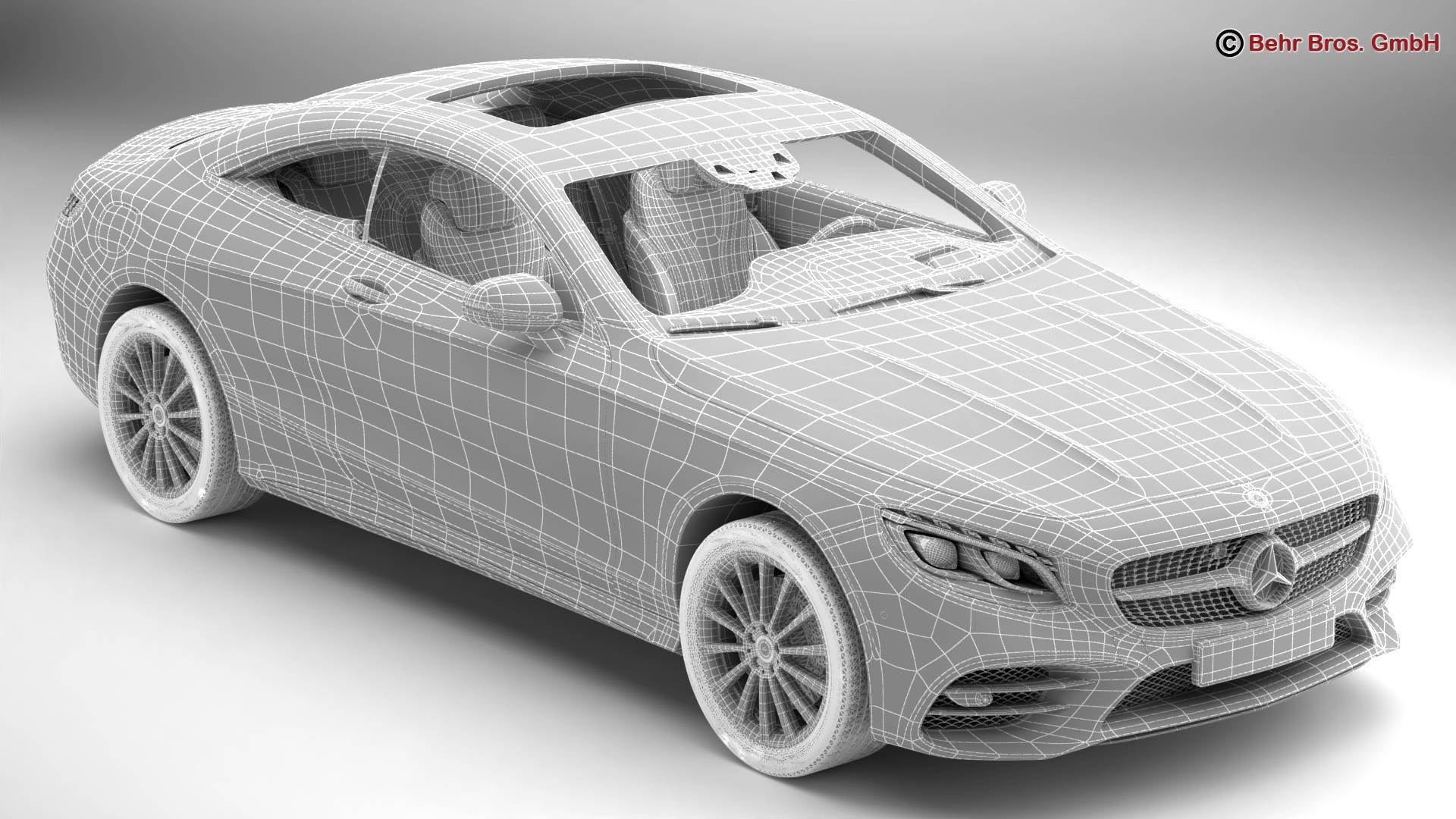 mercedes s class coupe amg line 2018 3d model 3ds max fbx c4d lwo ma mb obj 275673