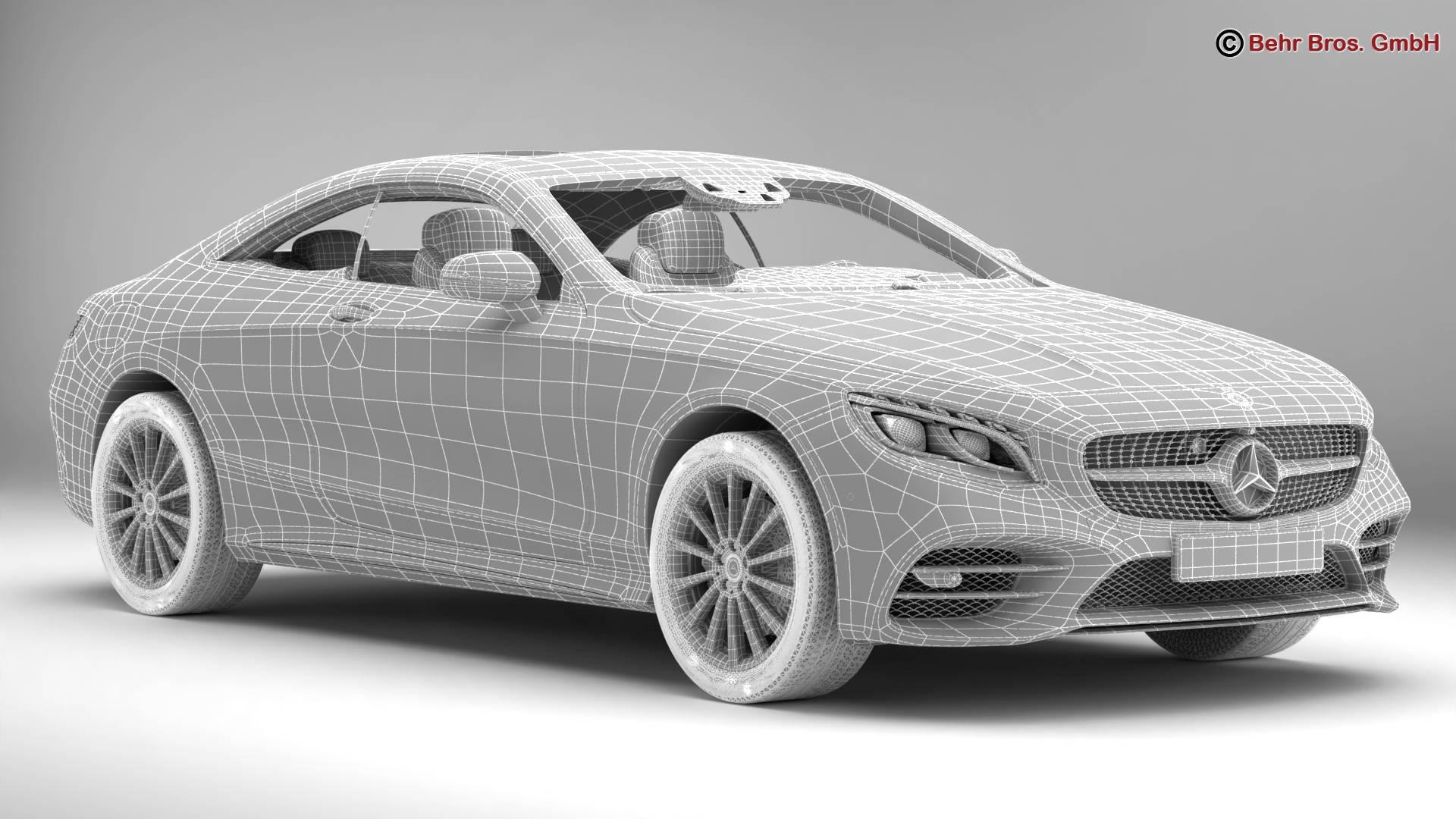 mercedes s class coupe amg line 2018 3d model 3ds max fbx c4d lwo ma mb obj 275674