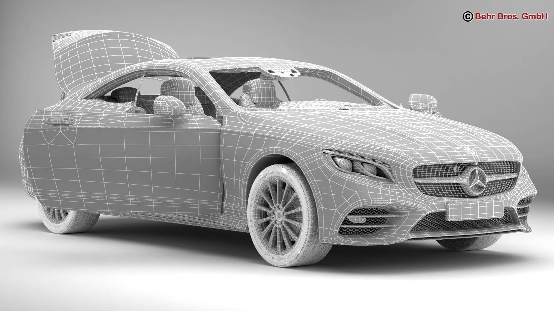 mercedes s class coupe amg line 2018 3d model 3ds max fbx c4d lwo ma mb obj 275675