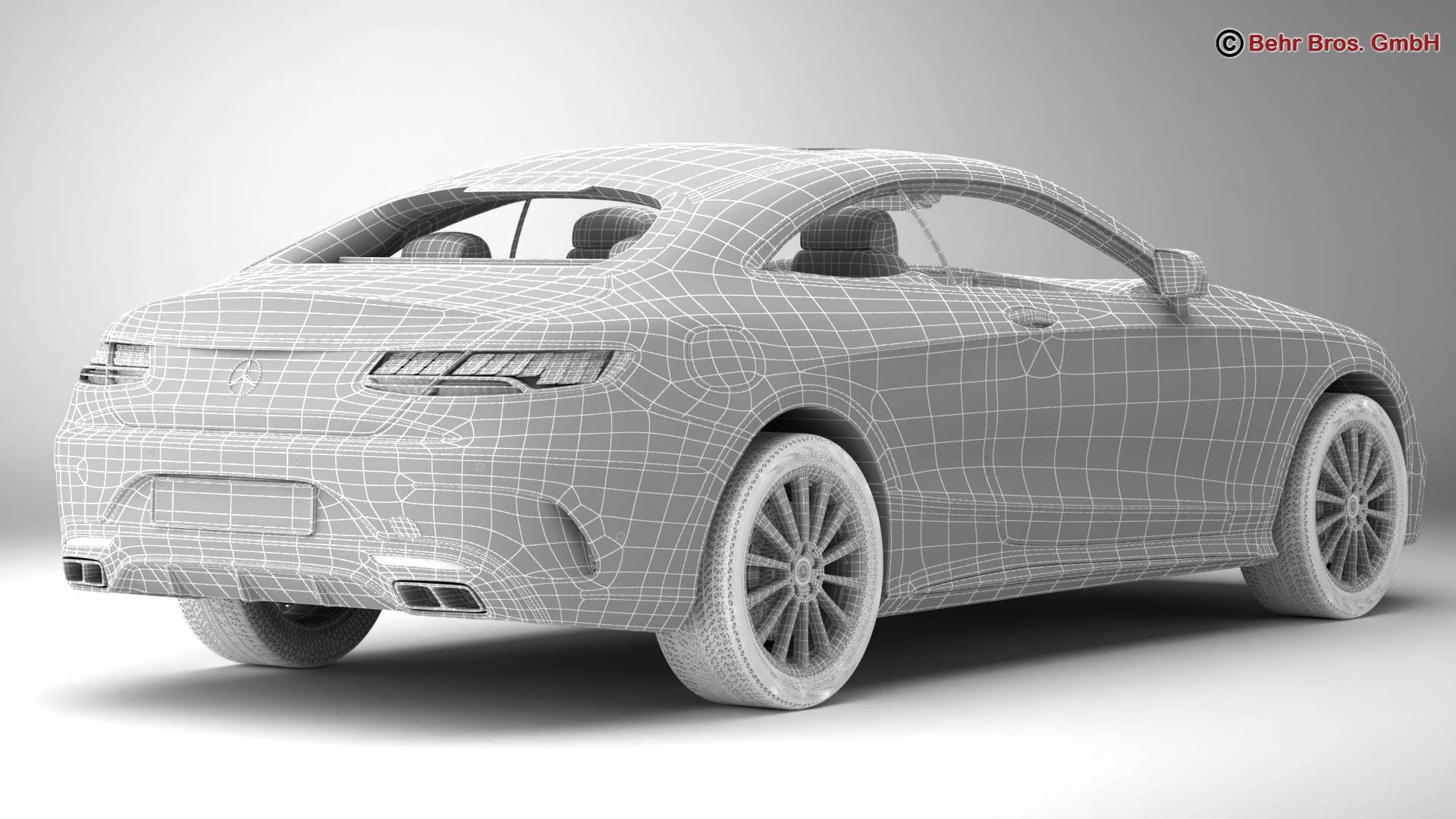 mercedes s class coupe amg line 2018 3d model 3ds max fbx c4d lwo ma mb obj 275676