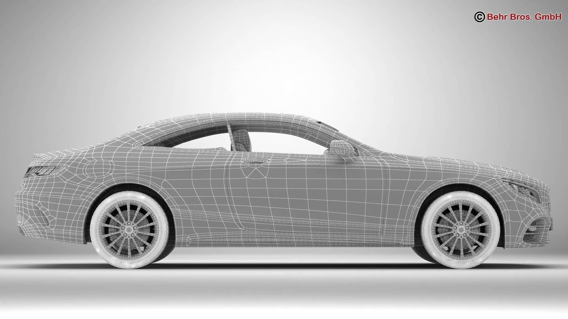 mercedes s class coupe amg line 2018 3d model 3ds max fbx c4d lwo ma mb obj 275678