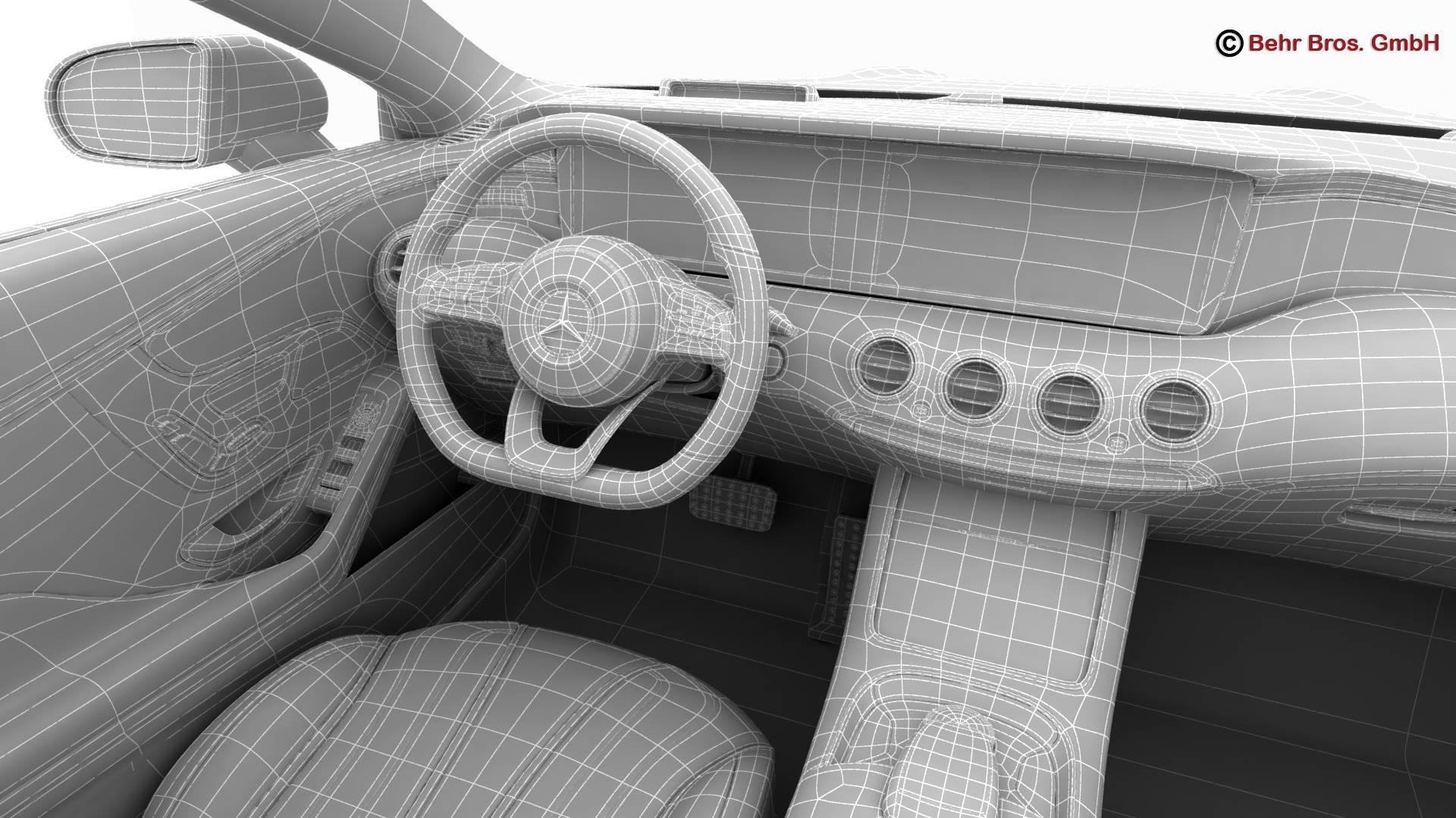 mercedes s class coupe amg line 2018 3d model 3ds max fbx c4d lwo ma mb obj 275687