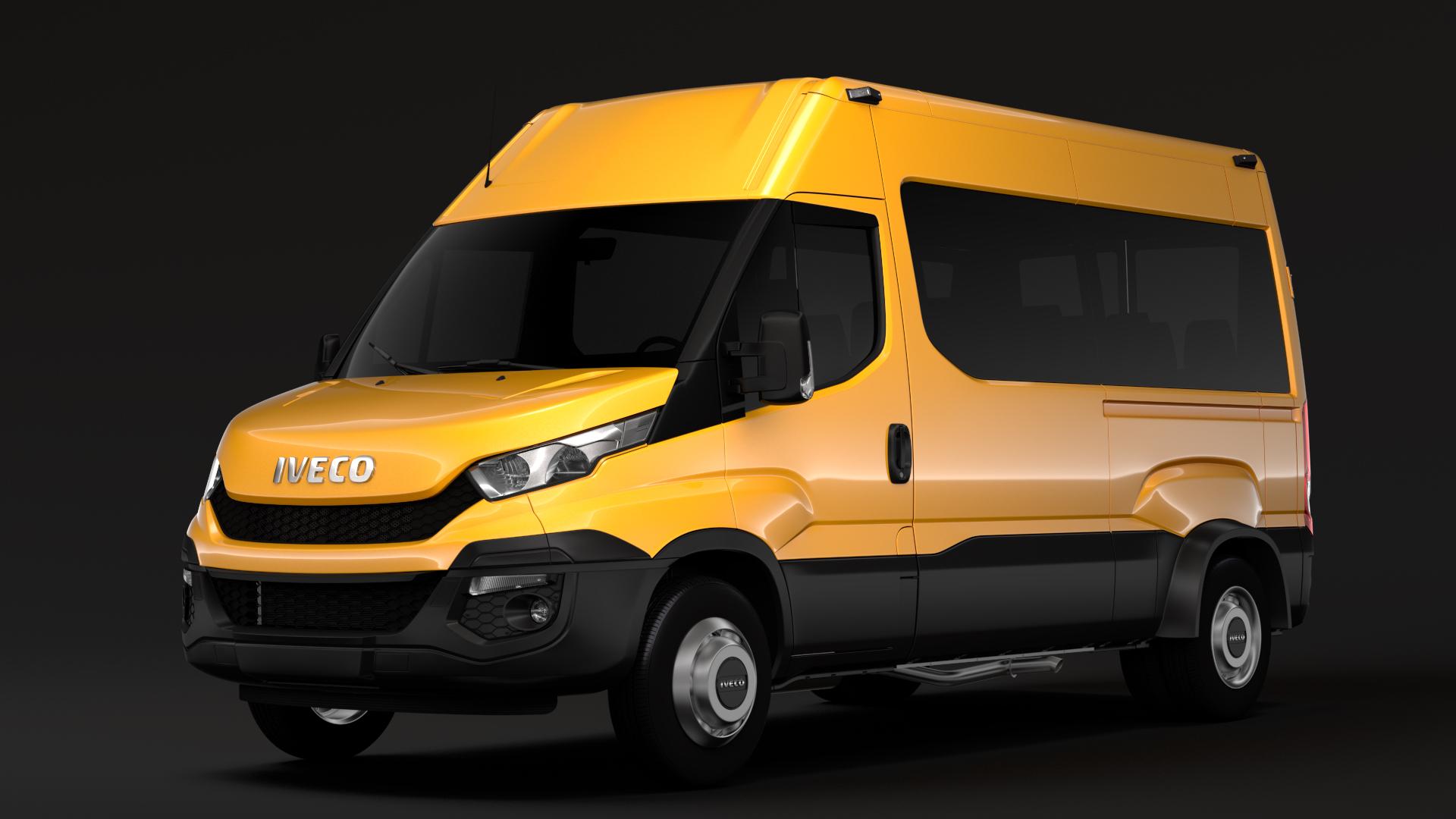 iveco daily minibus l2h2 2014-2016 3d model fbx c4d lwo ma mb hrc xsi obj 275918