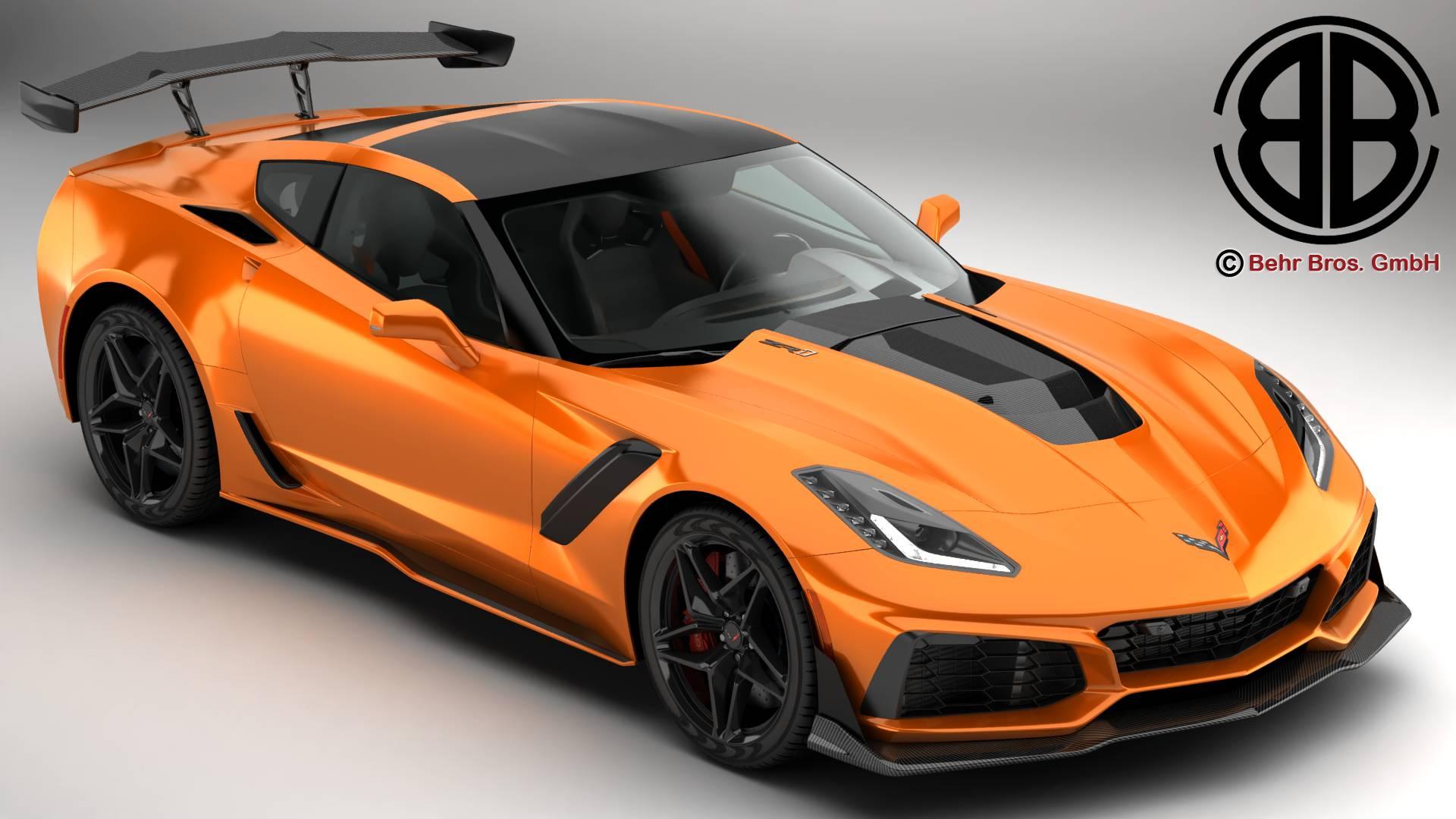 Chevrolet Corvette ZR1 2019 3d model 3ds max fbx c4d lwo lws lw ma mb obj 275966