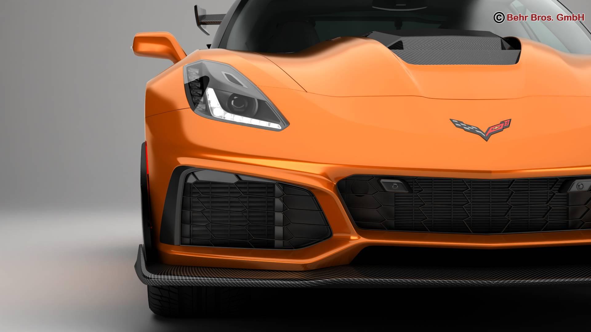 chevrolet corvette zr1 2019 3d model 3ds max fbx c4d lwo ma mb obj 275973