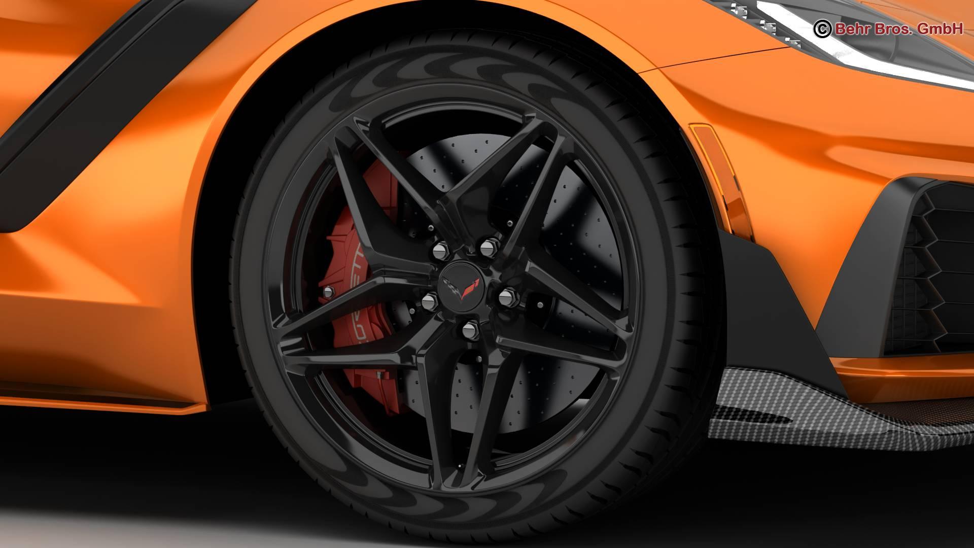 chevrolet corvette zr1 2019 3d model 3ds max fbx c4d lwo ma mb obj 275974
