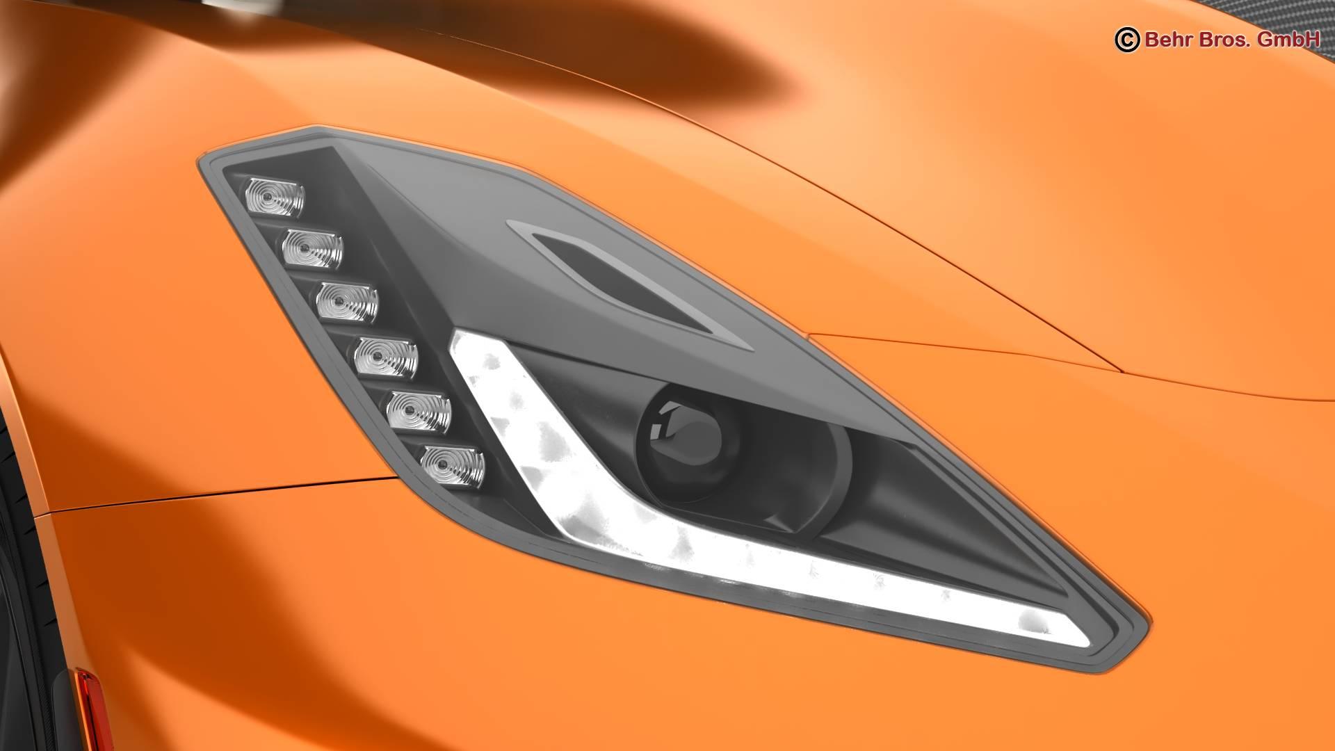 chevrolet corvette zr1 2019 3d model 3ds max fbx c4d lwo ma mb obj 275975