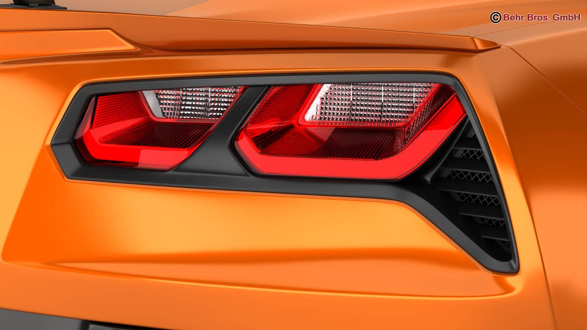 chevrolet corvette zr1 2019 3d model 3ds max fbx c4d lwo ma mb obj 275976