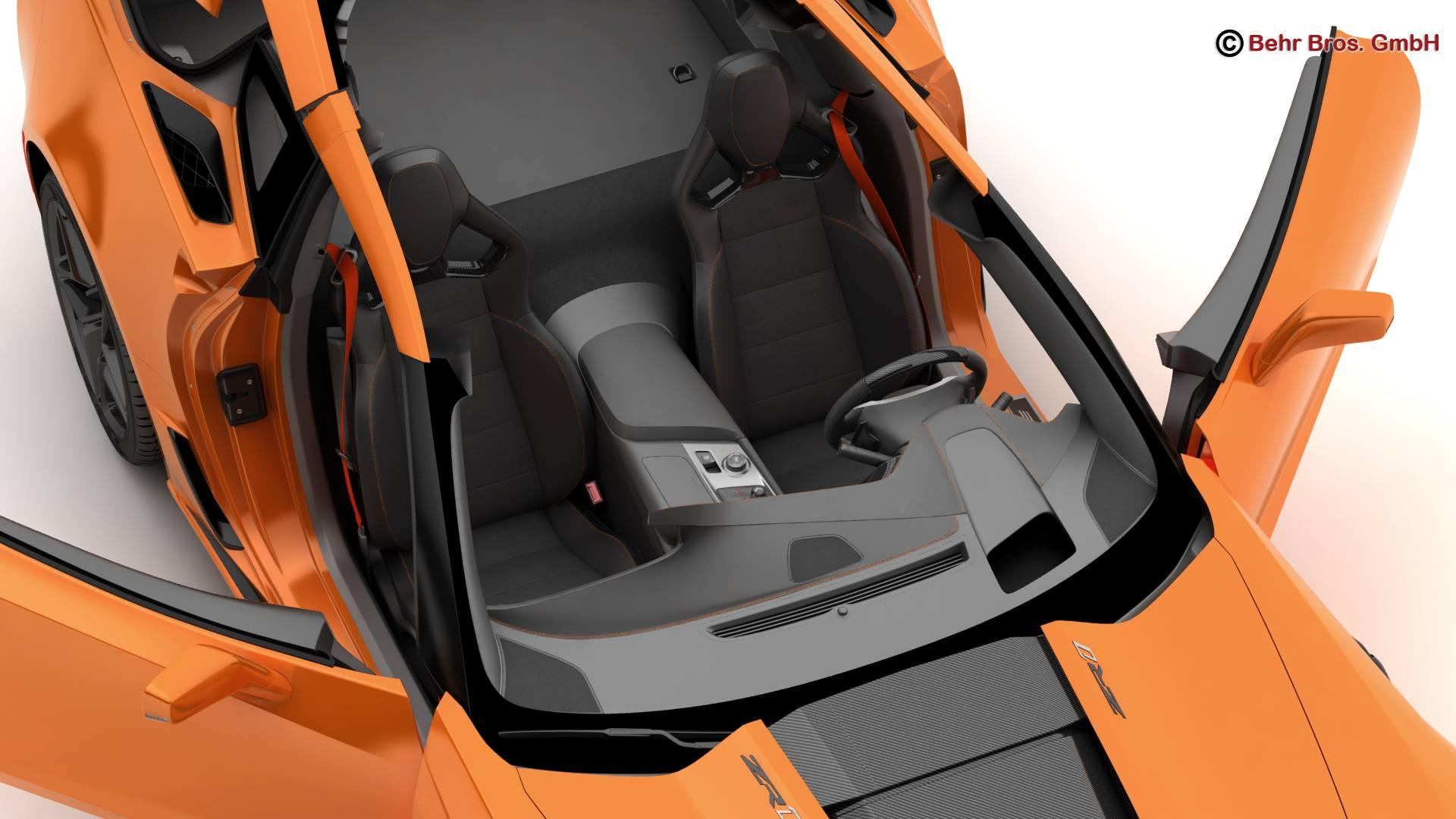 chevrolet corvette zr1 2019 3d model 3ds max fbx c4d lwo ma mb obj 275977