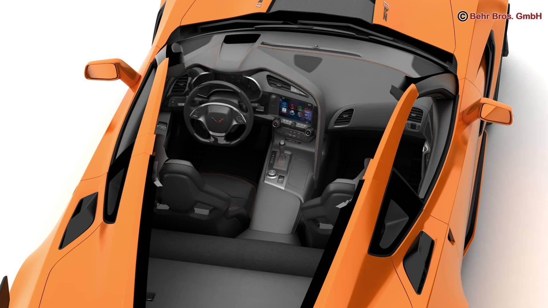 chevrolet corvette zr1 2019 3d model 3ds max fbx c4d lwo ma mb obj 275978
