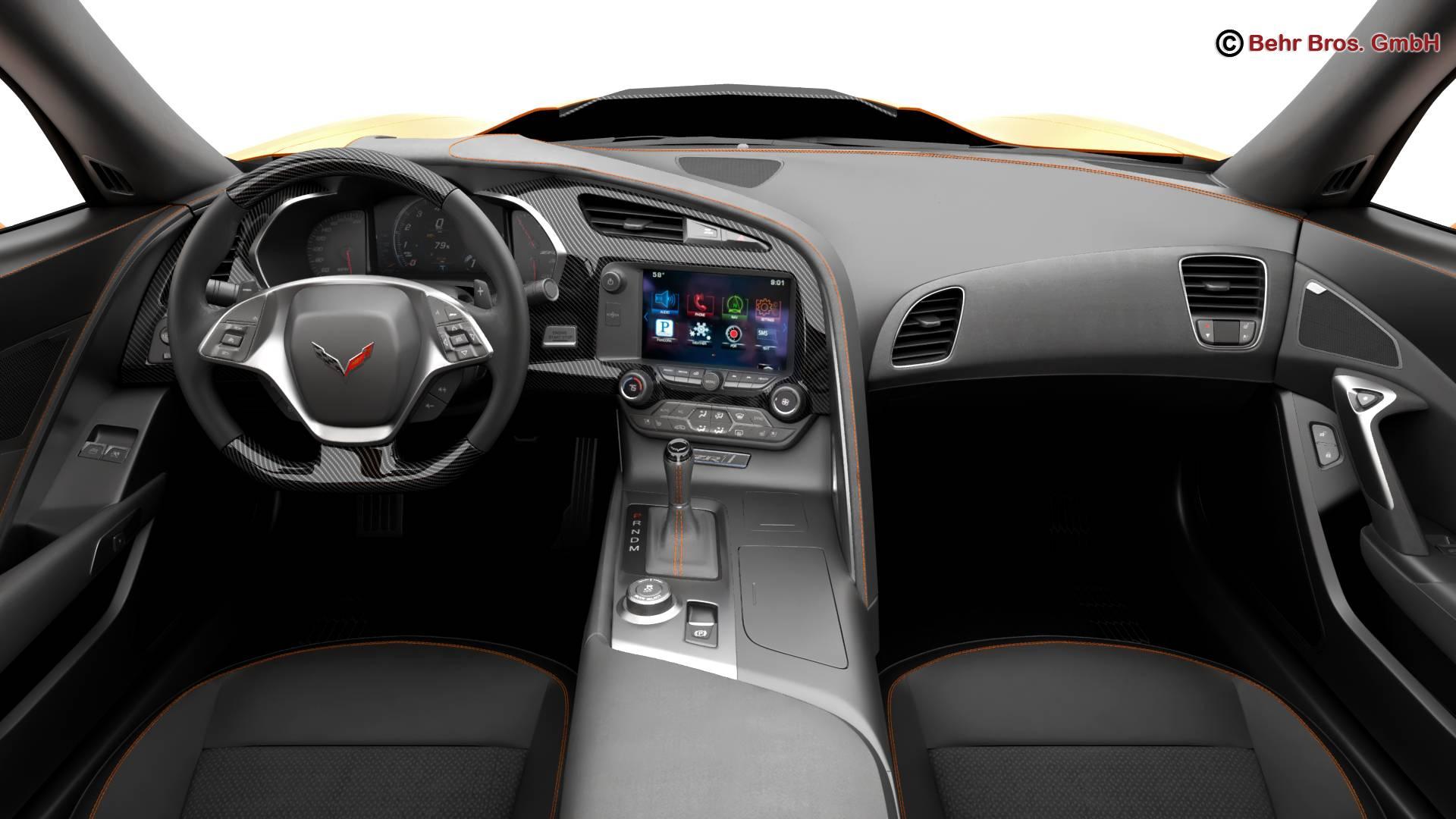 chevrolet corvette zr1 2019 3d model 3ds max fbx c4d lwo ma mb obj 275979