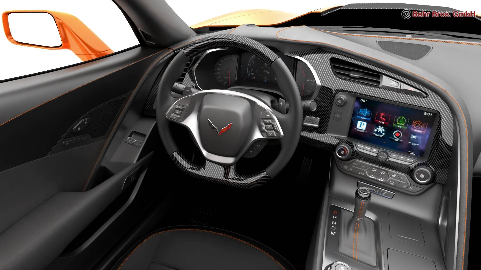 chevrolet corvette zr1 2019 3d model 3ds max fbx c4d lwo ma mb obj 275980