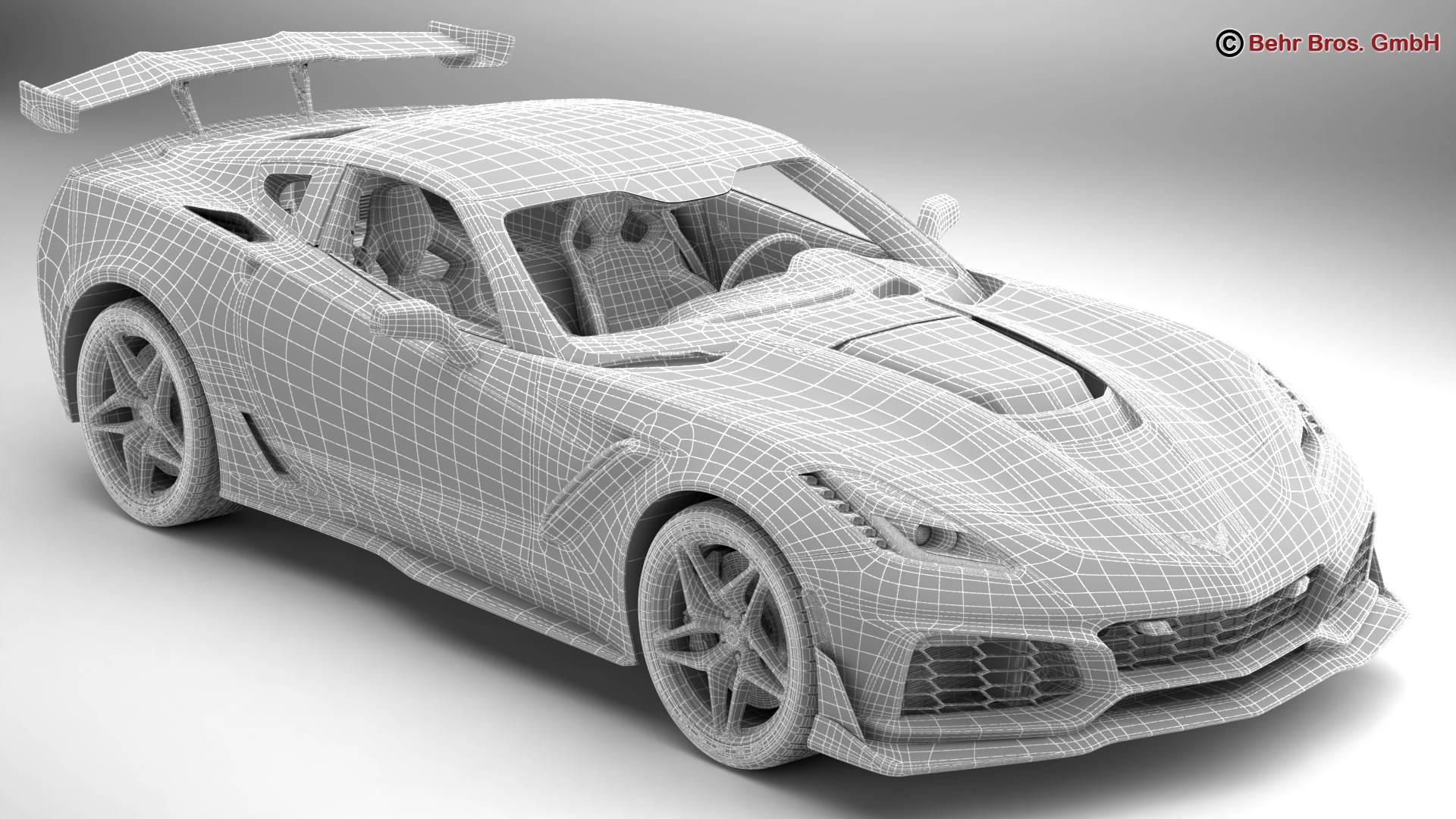 chevrolet corvette zr1 2019 3d model 3ds max fbx c4d lwo ma mb obj 275981