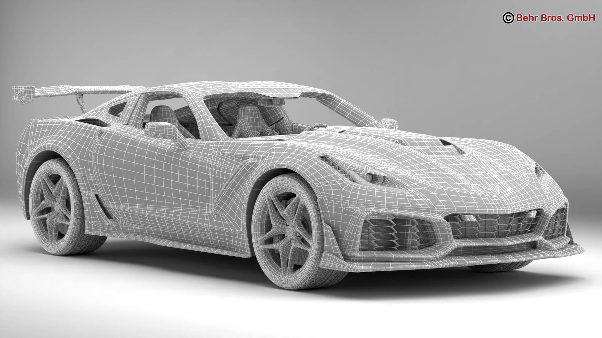chevrolet corvette zr1 2019 3d model 3ds max fbx c4d lwo ma mb obj 275982