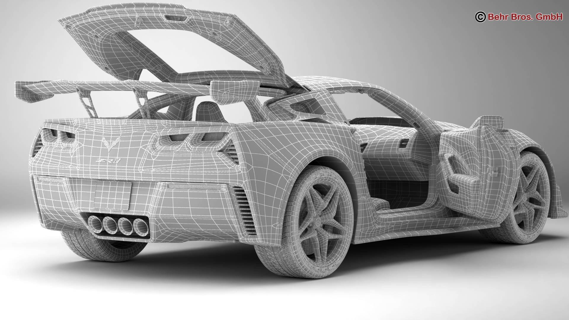 chevrolet corvette zr1 2019 3d model 3ds max fbx c4d lwo ma mb obj 275985