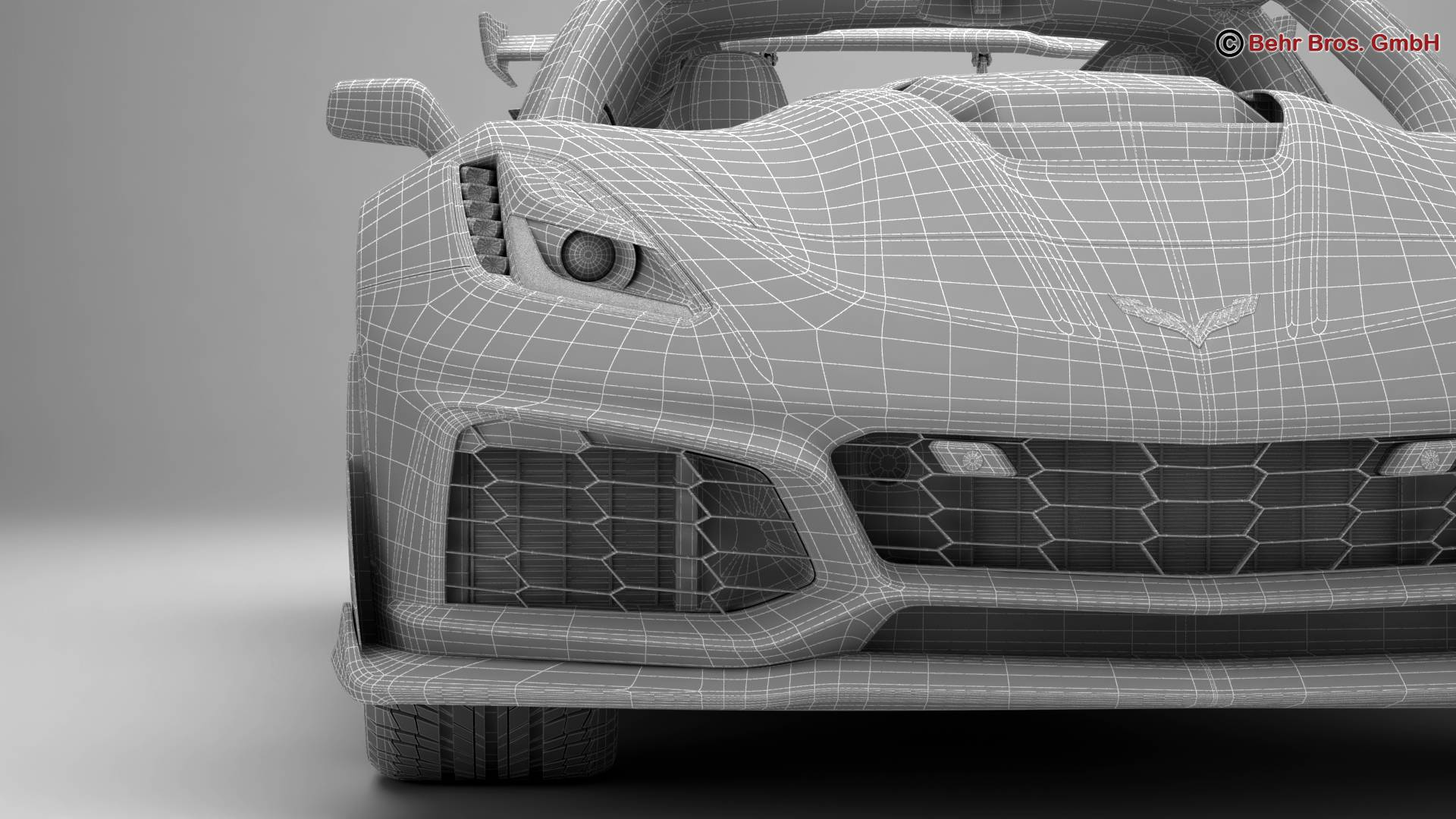 chevrolet corvette zr1 2019 3d model 3ds max fbx c4d lwo ma mb obj 275988