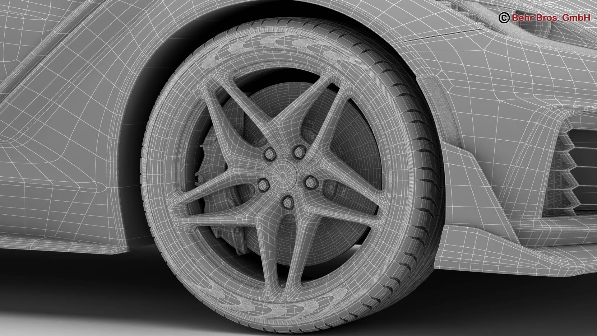 chevrolet corvette zr1 2019 3d model 3ds max fbx c4d lwo ma mb obj 275989
