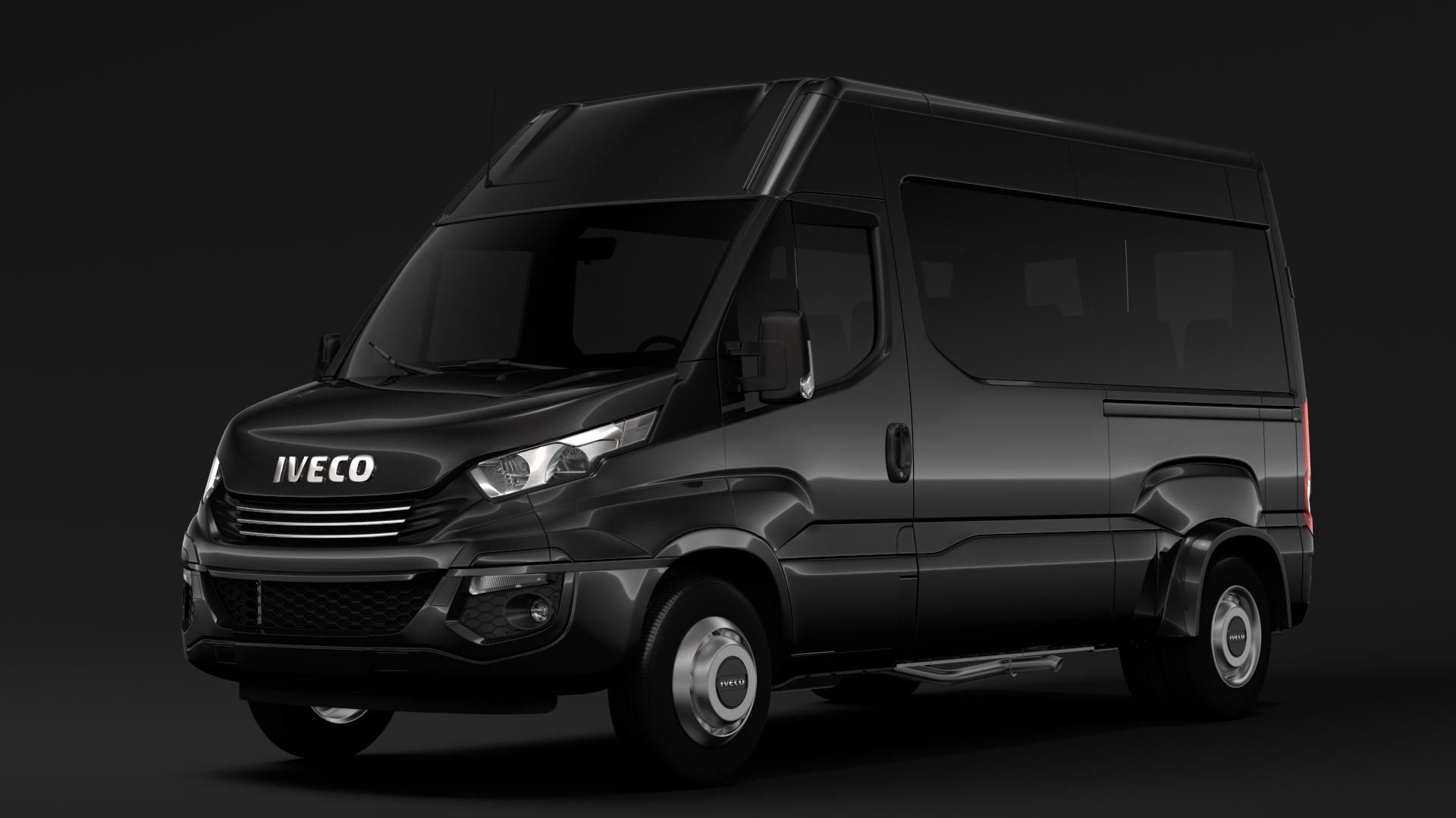 iveco daily minibus l2h2 2017 3d model max fbx c4d lwo ma mb hrc xsi obj 276008