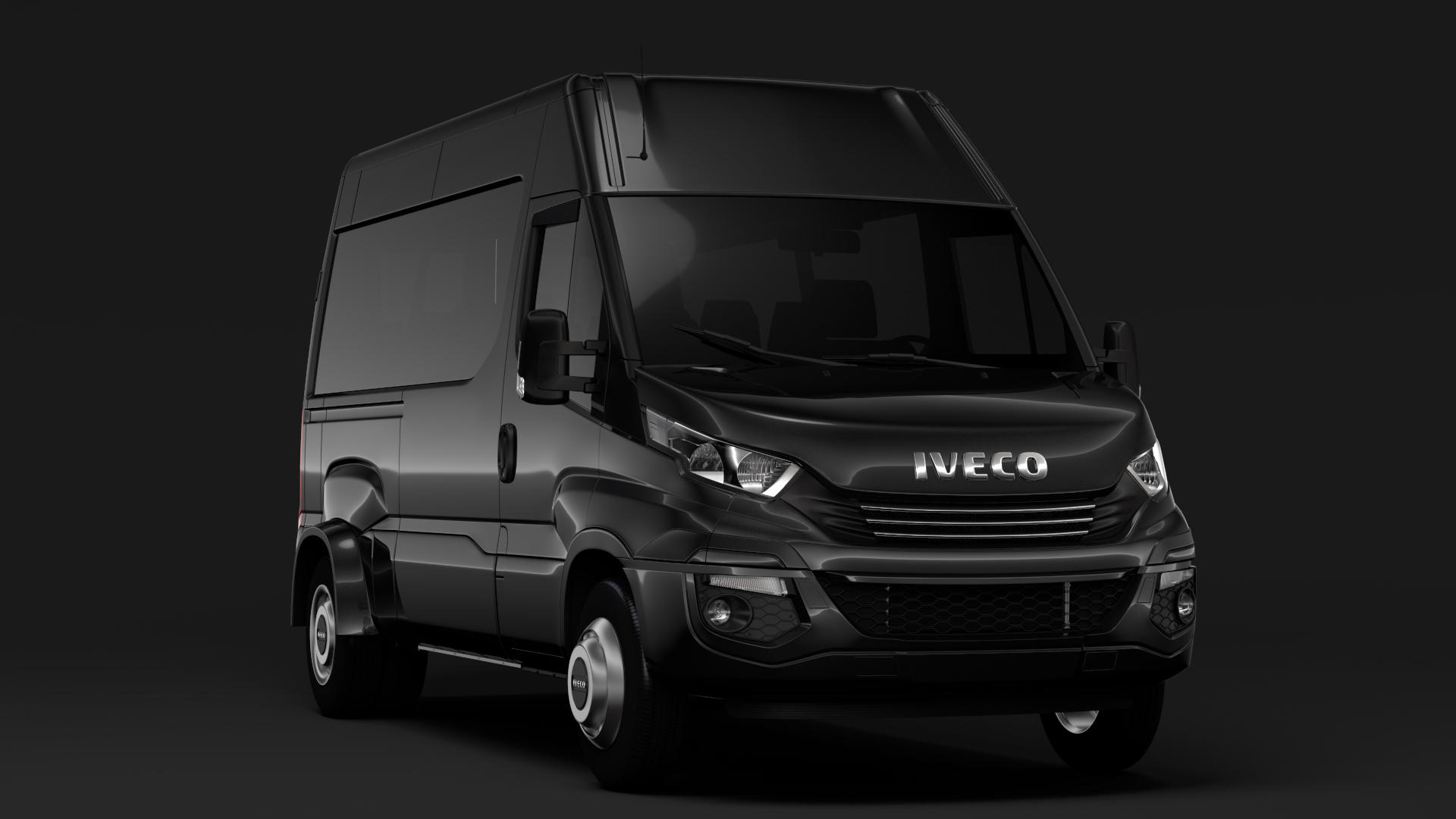 iveco daily minibus l2h2 2017 3d model max fbx c4d lwo ma mb hrc xsi obj 276010