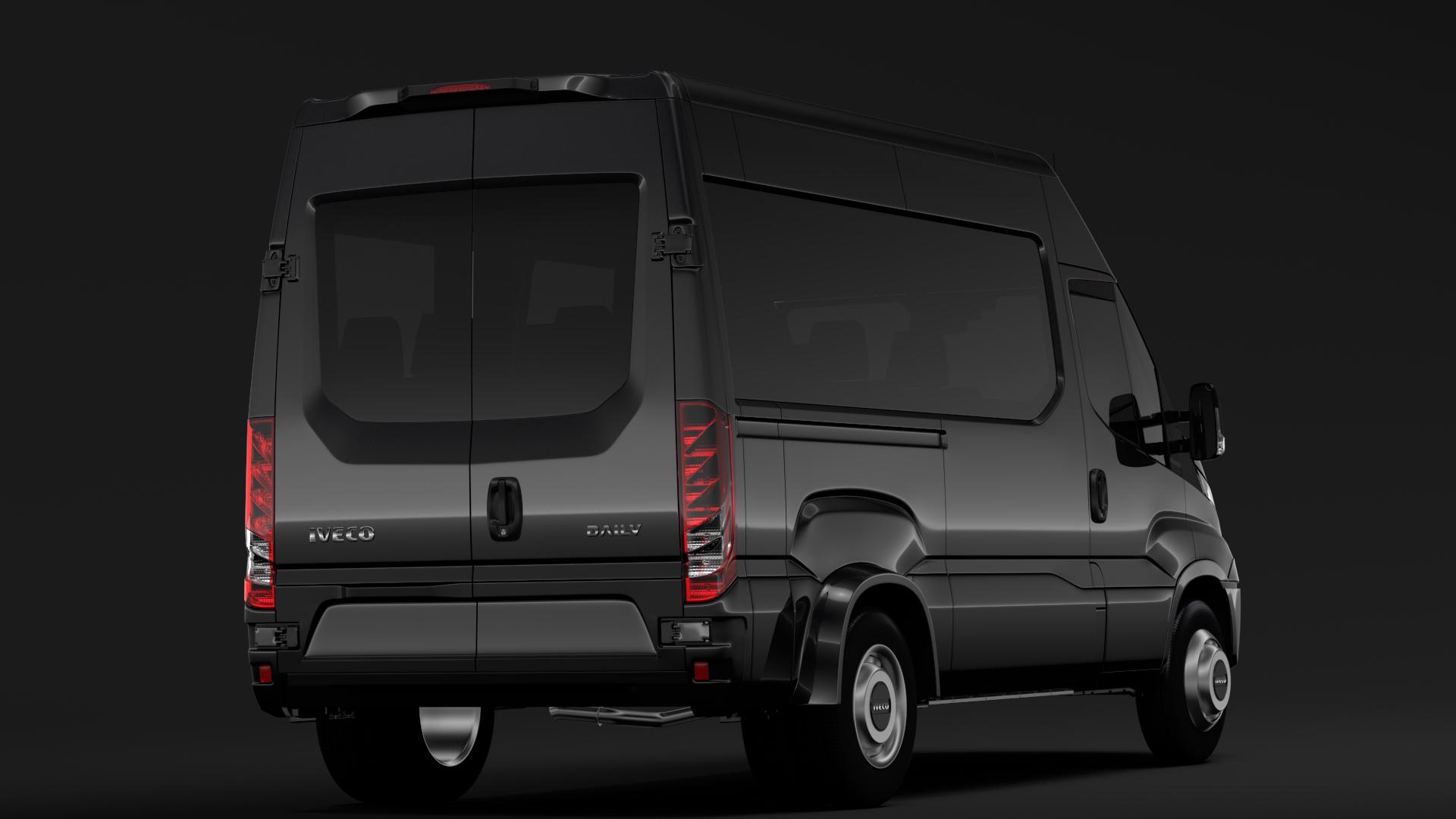 iveco daily minibus l2h2 2017 3d model max fbx c4d lwo ma mb hrc xsi obj 276013