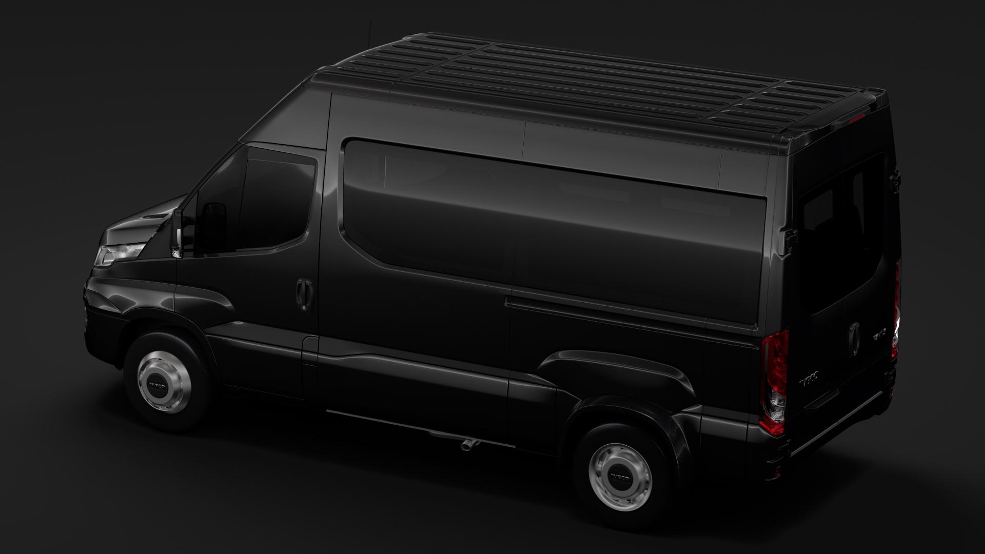 iveco daily minibus l2h2 2017 3d model max fbx c4d lwo ma mb hrc xsi obj 276015