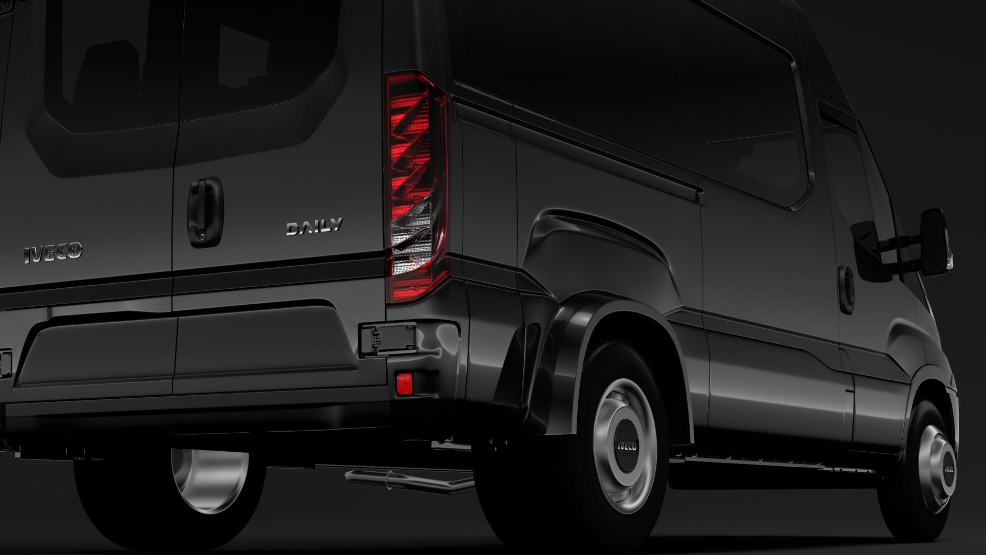 iveco daily minibus l2h2 2017 3d model max fbx c4d lwo ma mb hrc xsi obj 276016