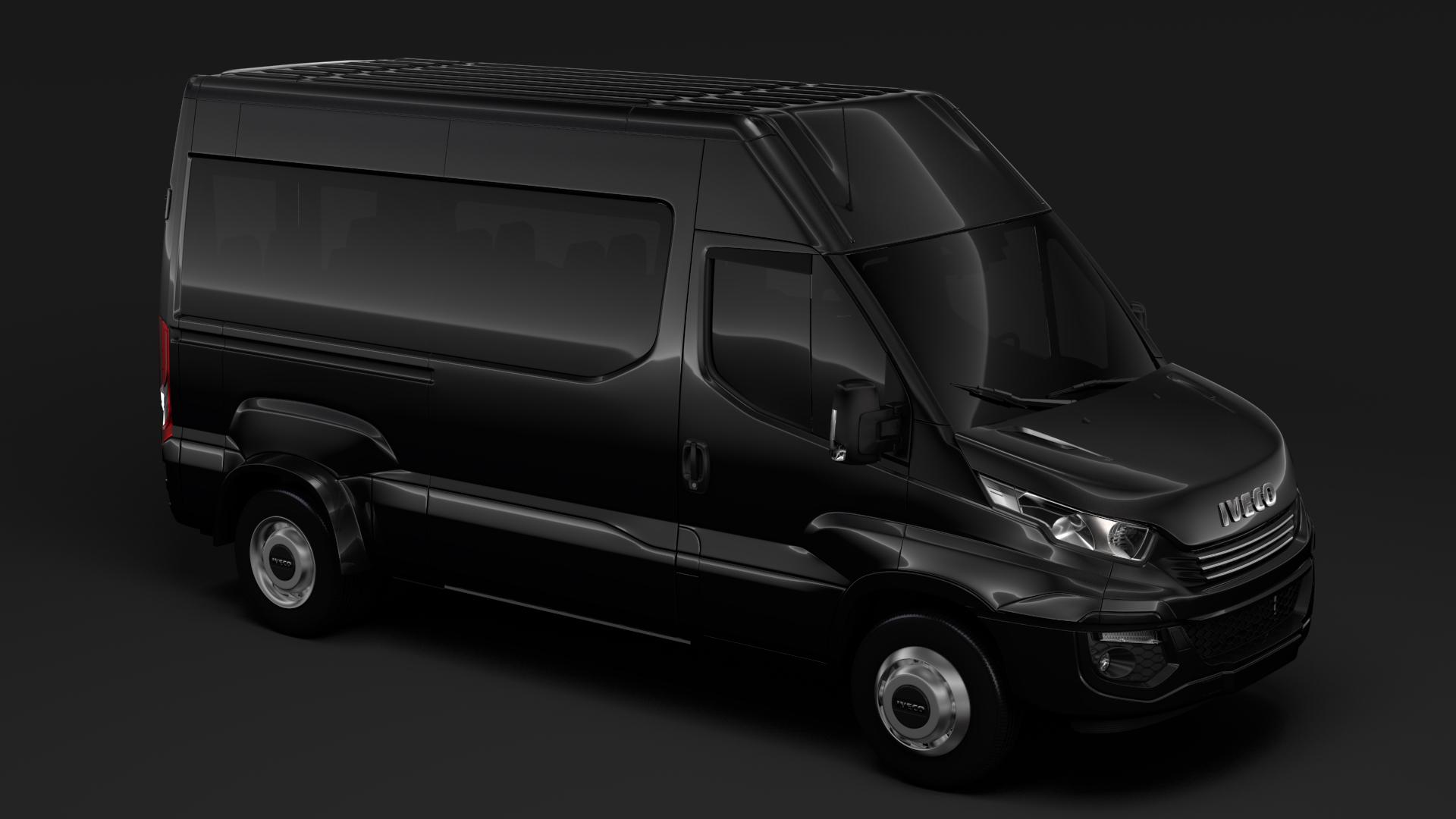 iveco daily minibus l2h2 2017 3d model max fbx c4d lwo ma mb hrc xsi obj 276018