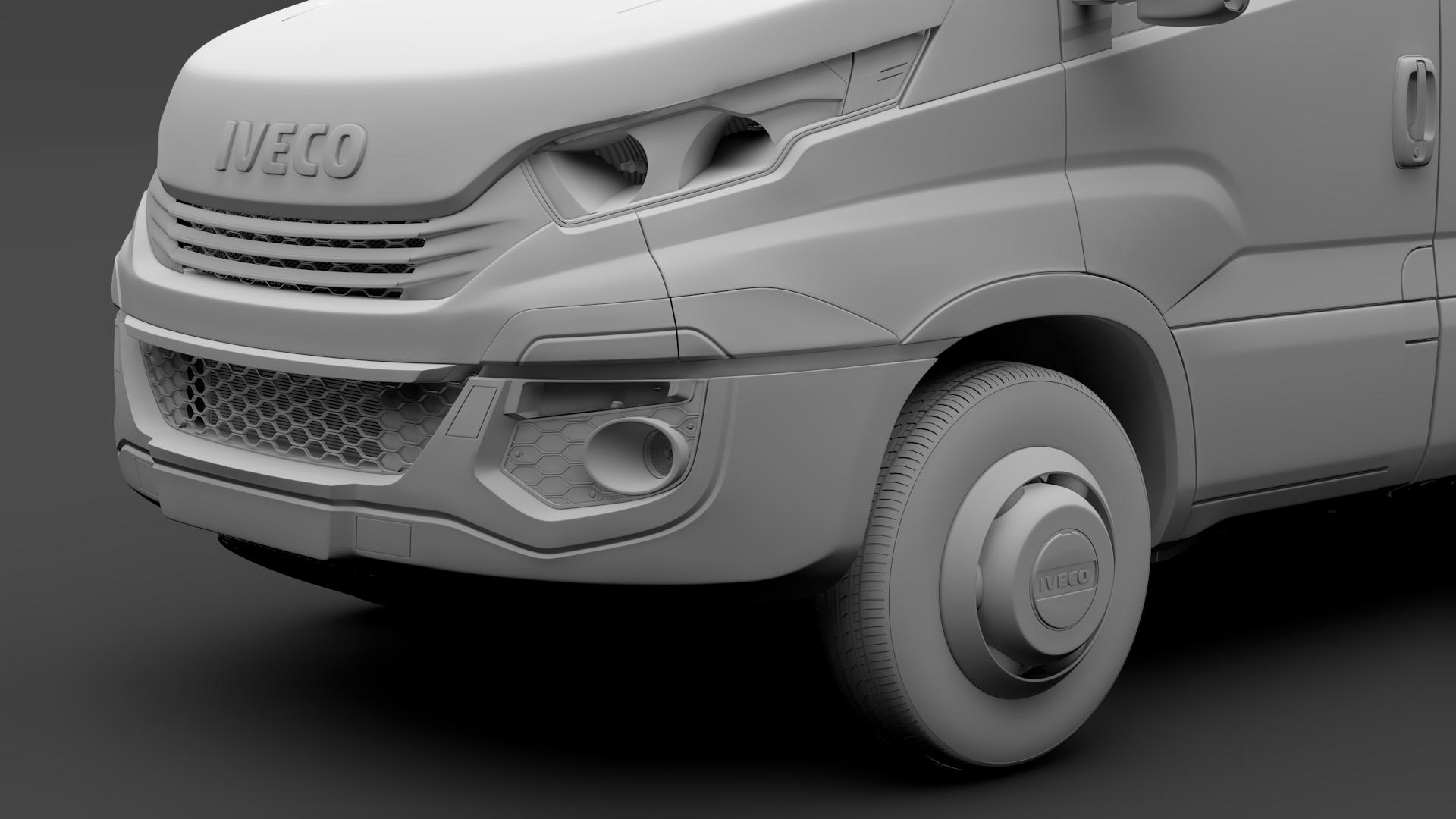 iveco daily minibus l2h2 2017 3d model max fbx c4d lwo ma mb hrc xsi obj 276019