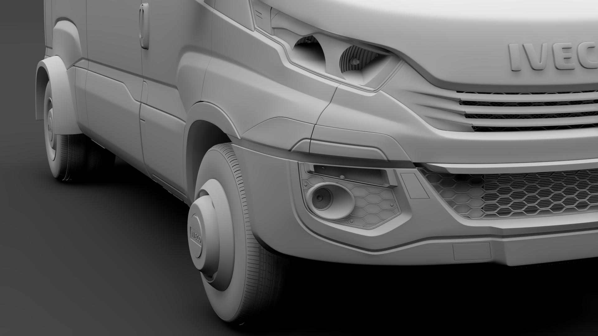 iveco daily minibus l2h2 2017 3d model max fbx c4d lwo ma mb hrc xsi obj 276020