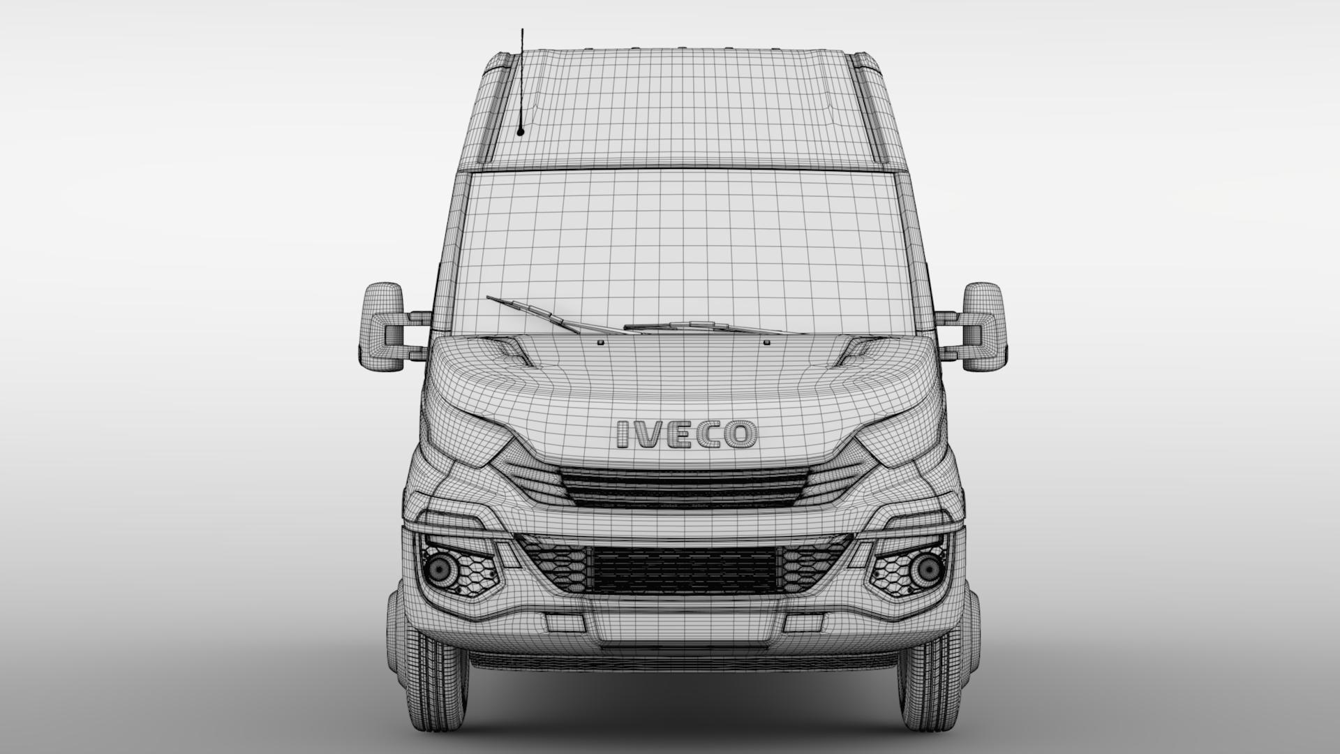 iveco daily minibus l2h2 2017 3d model max fbx c4d lwo ma mb hrc xsi obj 276025