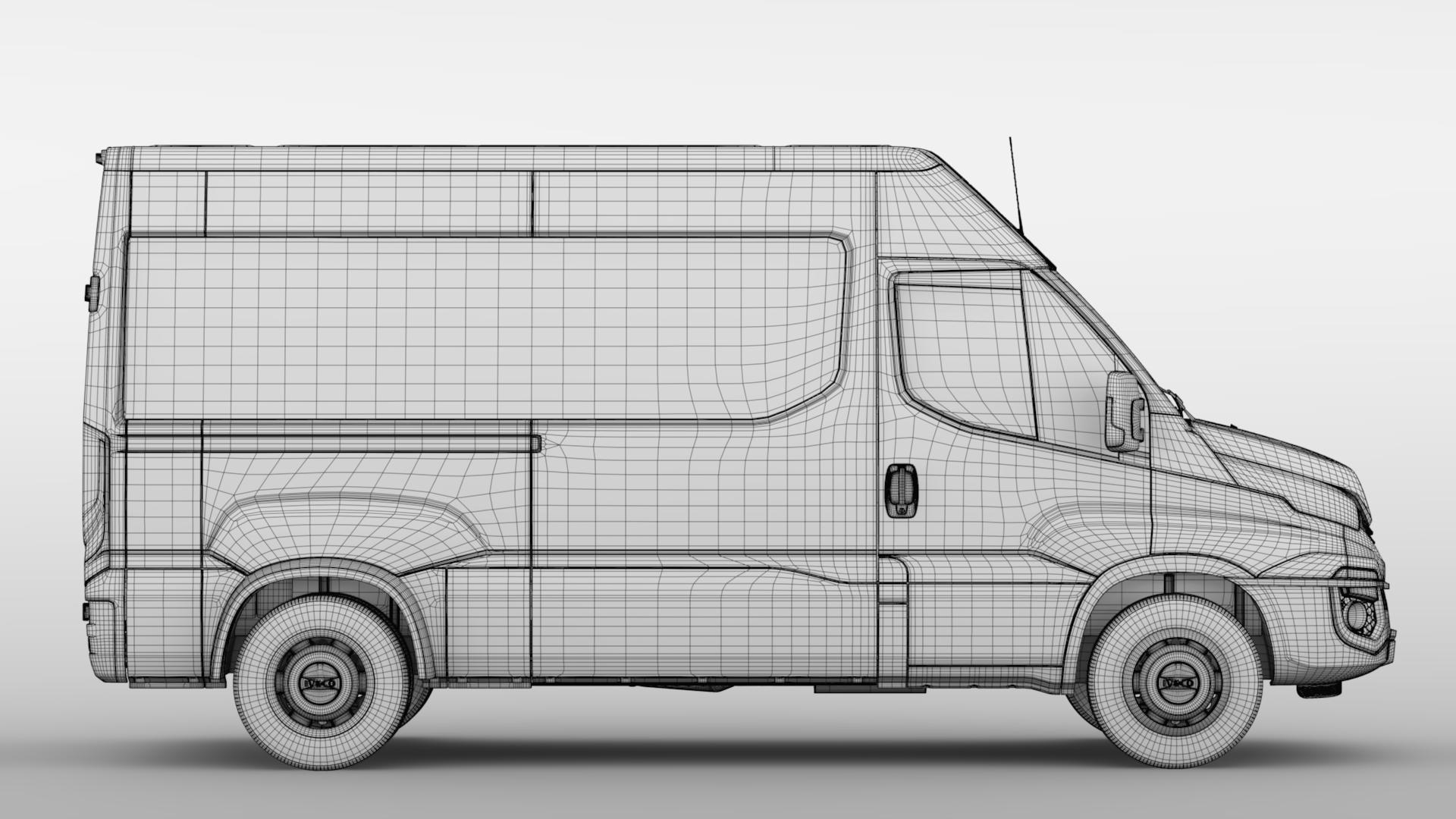 iveco daily minibus l2h2 2017 3d model max fbx c4d lwo ma mb hrc xsi obj 276026
