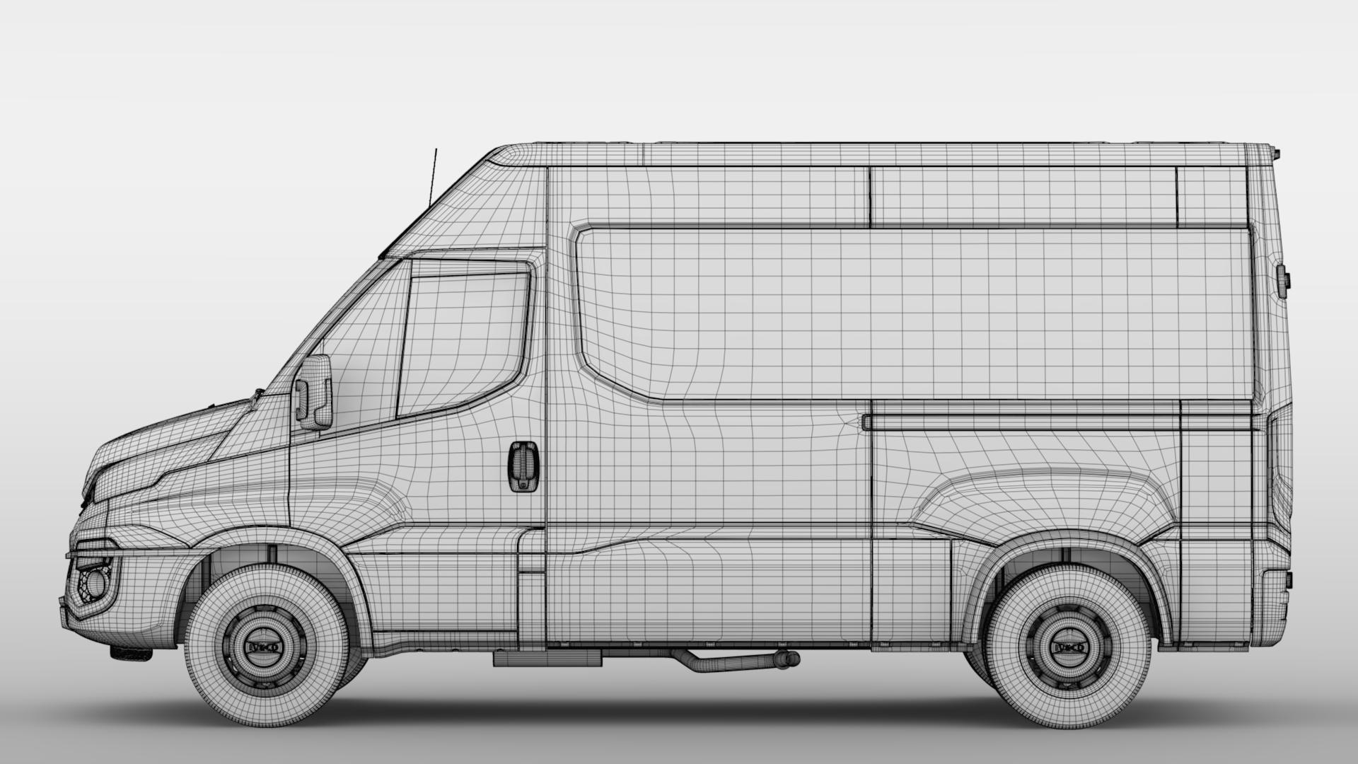 iveco daily minibus l2h2 2017 3d model max fbx c4d lwo ma mb hrc xsi obj 276029