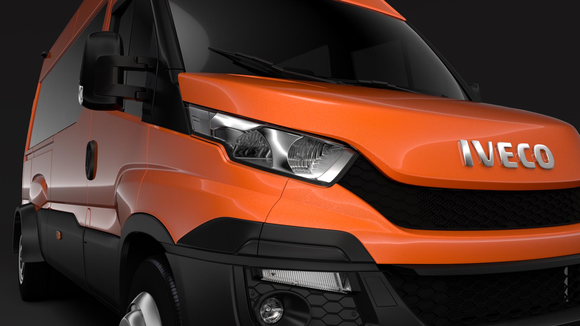 iveco daily minibus l3h2 2014-2016 3d model max fbx c4d lwo ma mb hrc xsi obj 276039