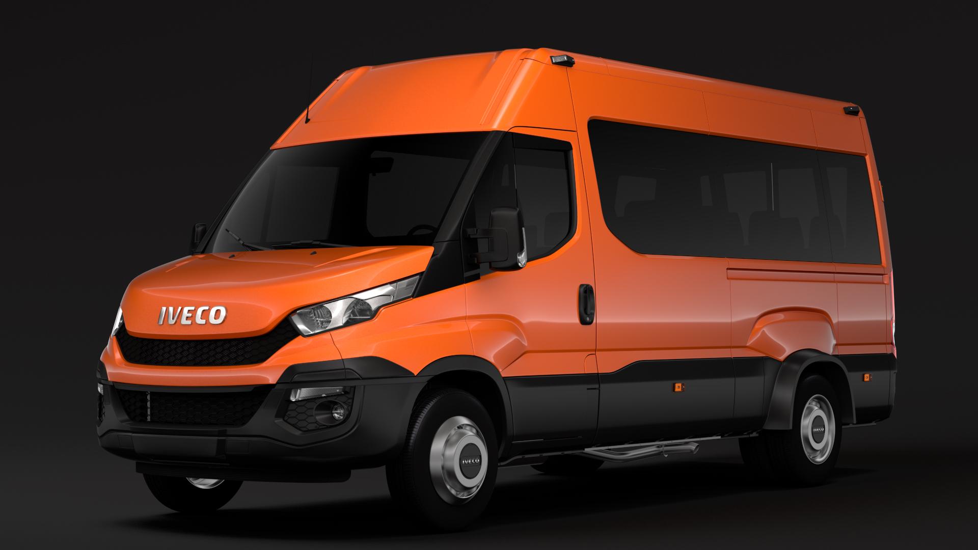 iveco daily minibus l3h2 2014-2016 3d model max fbx c4d lwo ma mb hrc xsi obj 276042