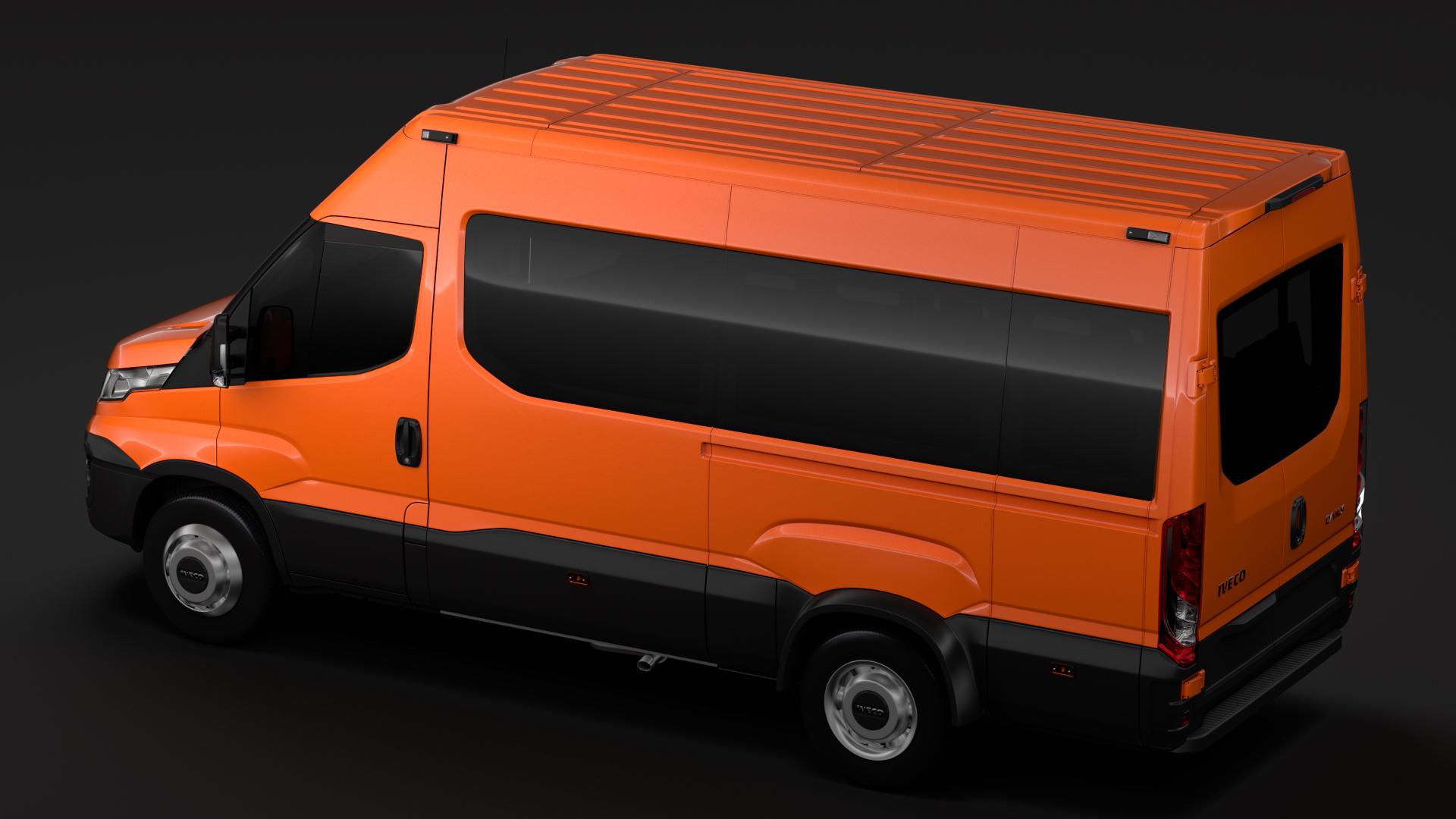 iveco daily minibus l3h2 2014-2016 3d model max fbx c4d lwo ma mb hrc xsi obj 276047