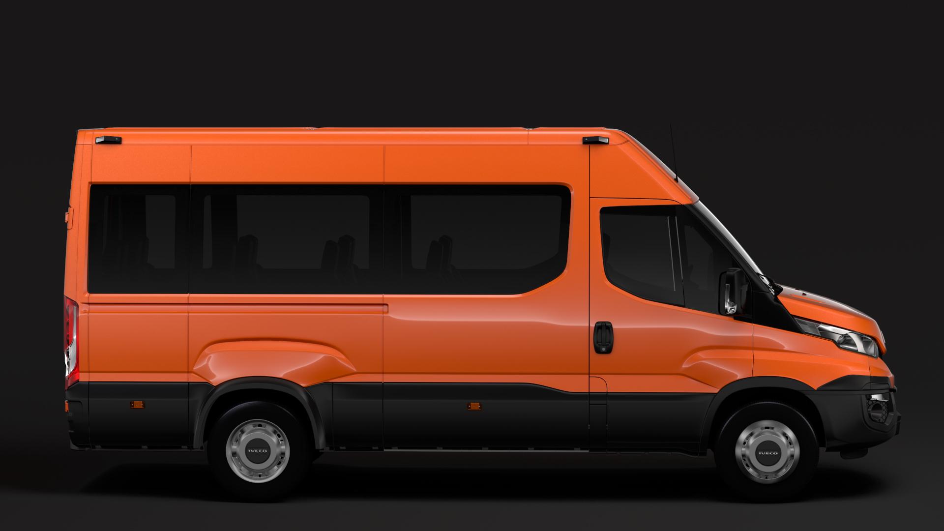 iveco daily minibus l3h2 2014-2016 3d model max fbx c4d lwo ma mb hrc xsi obj 276049