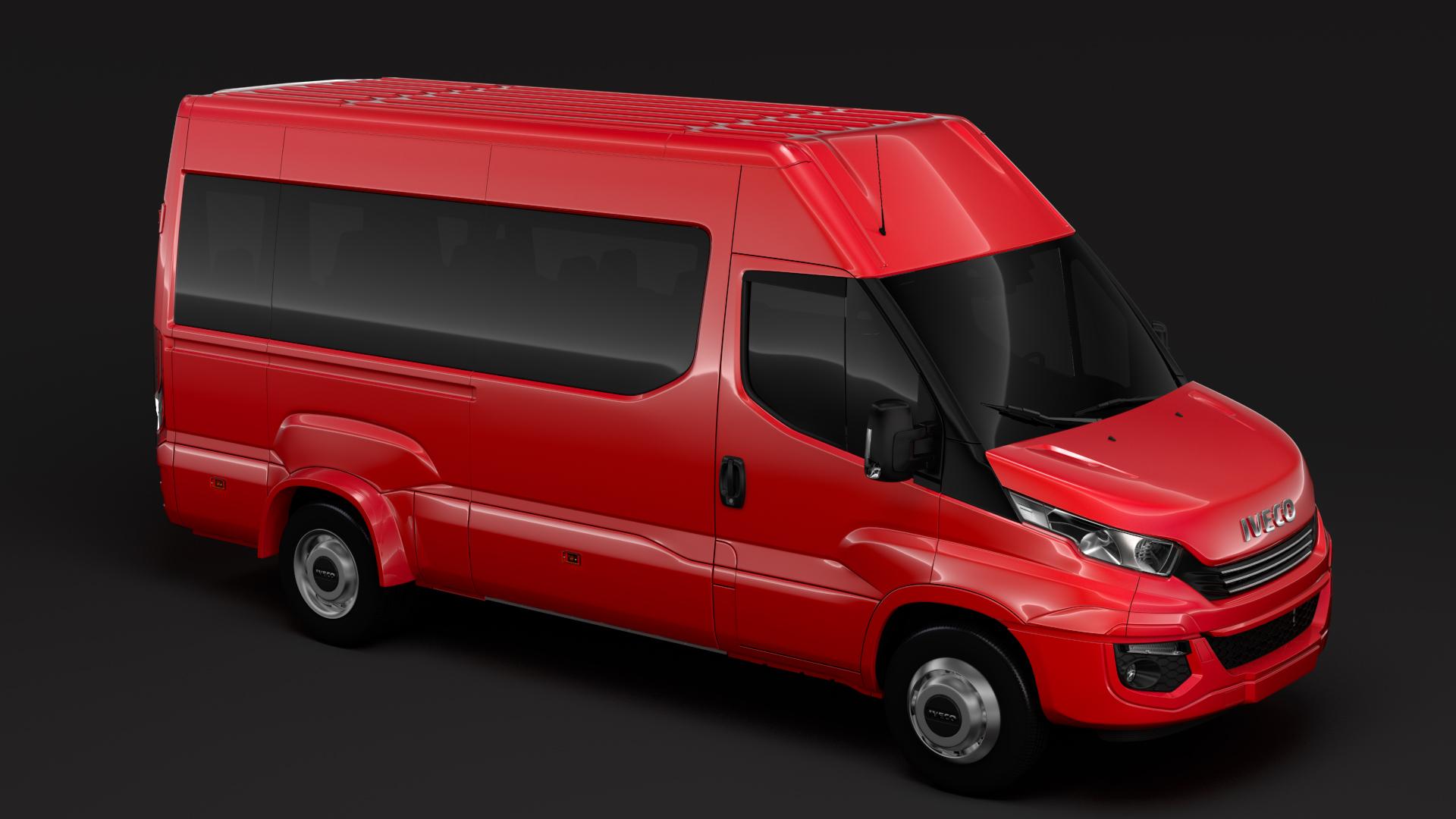 iveco daily minibus l3h2 2017 3d model max fbx c4d lwo ma mb obj 276080