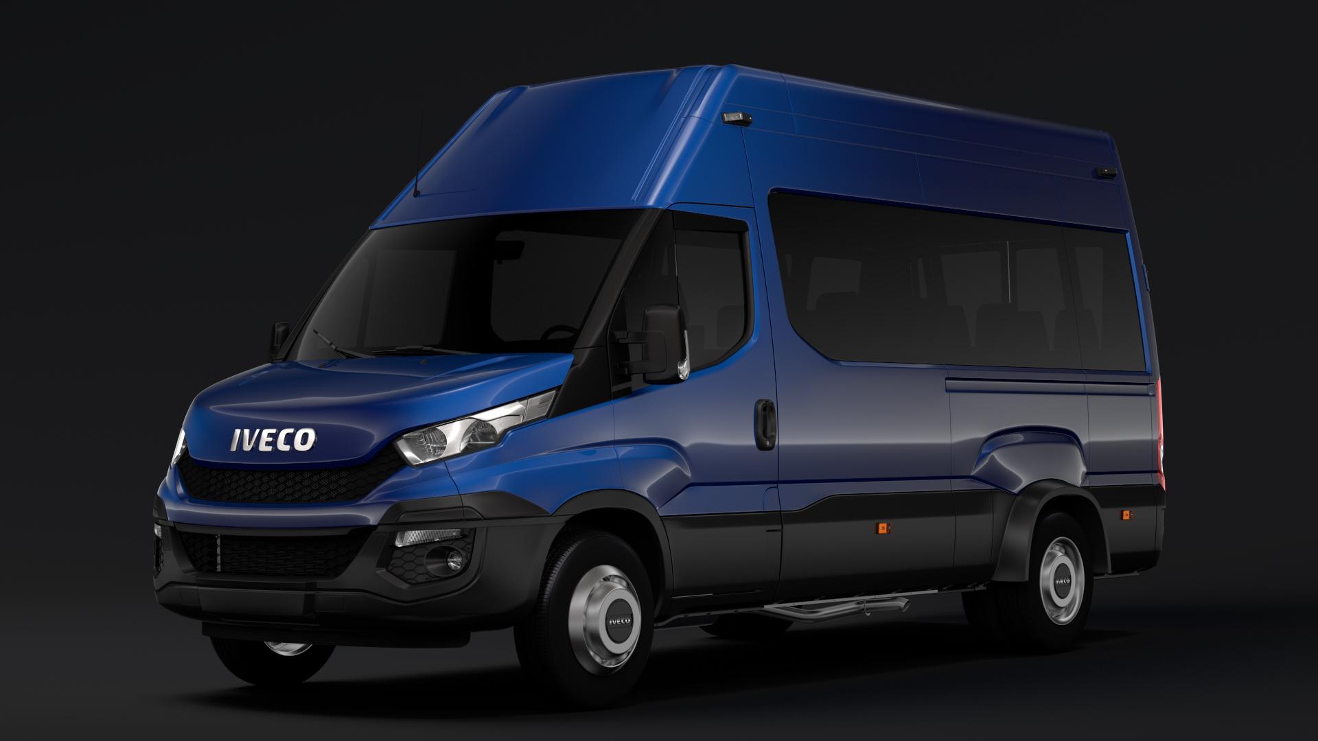 iveco daily minibus l3h3 2014 2016 3d model max fbx c4d lwo ma mb hrc xsi obj 276110