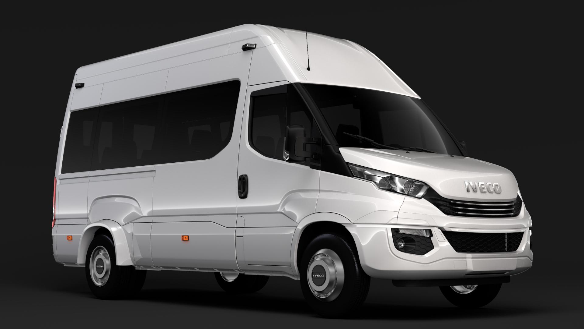 iveco daily minibus l3h3 2017 3d model max fbx c4d lwo ma mb hrc xsi obj 276142
