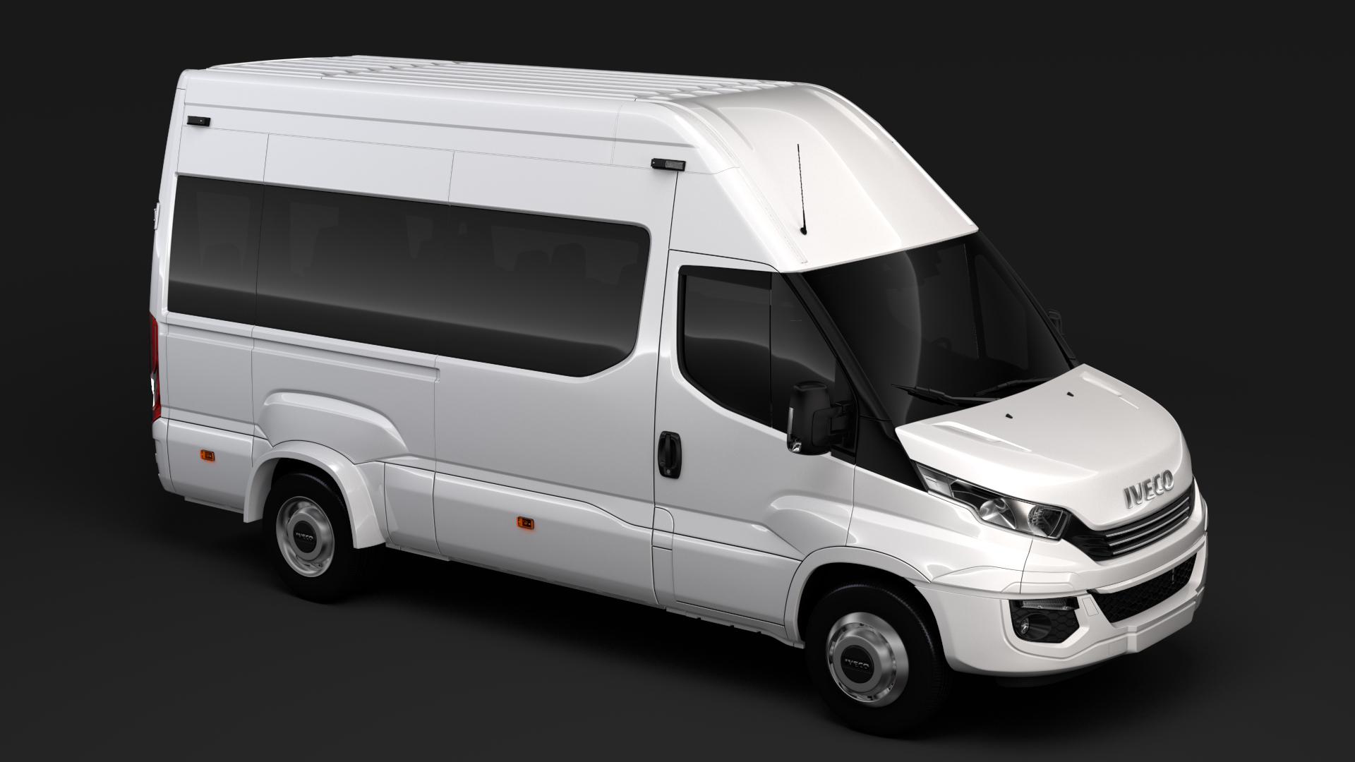 iveco daily minibus l3h3 2017 3d model max fbx c4d lwo ma mb hrc xsi obj 276151