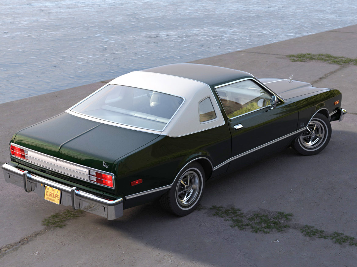 plymouth volare coupe 1976 3d modell 3ds max fbx c4d obj 276506
